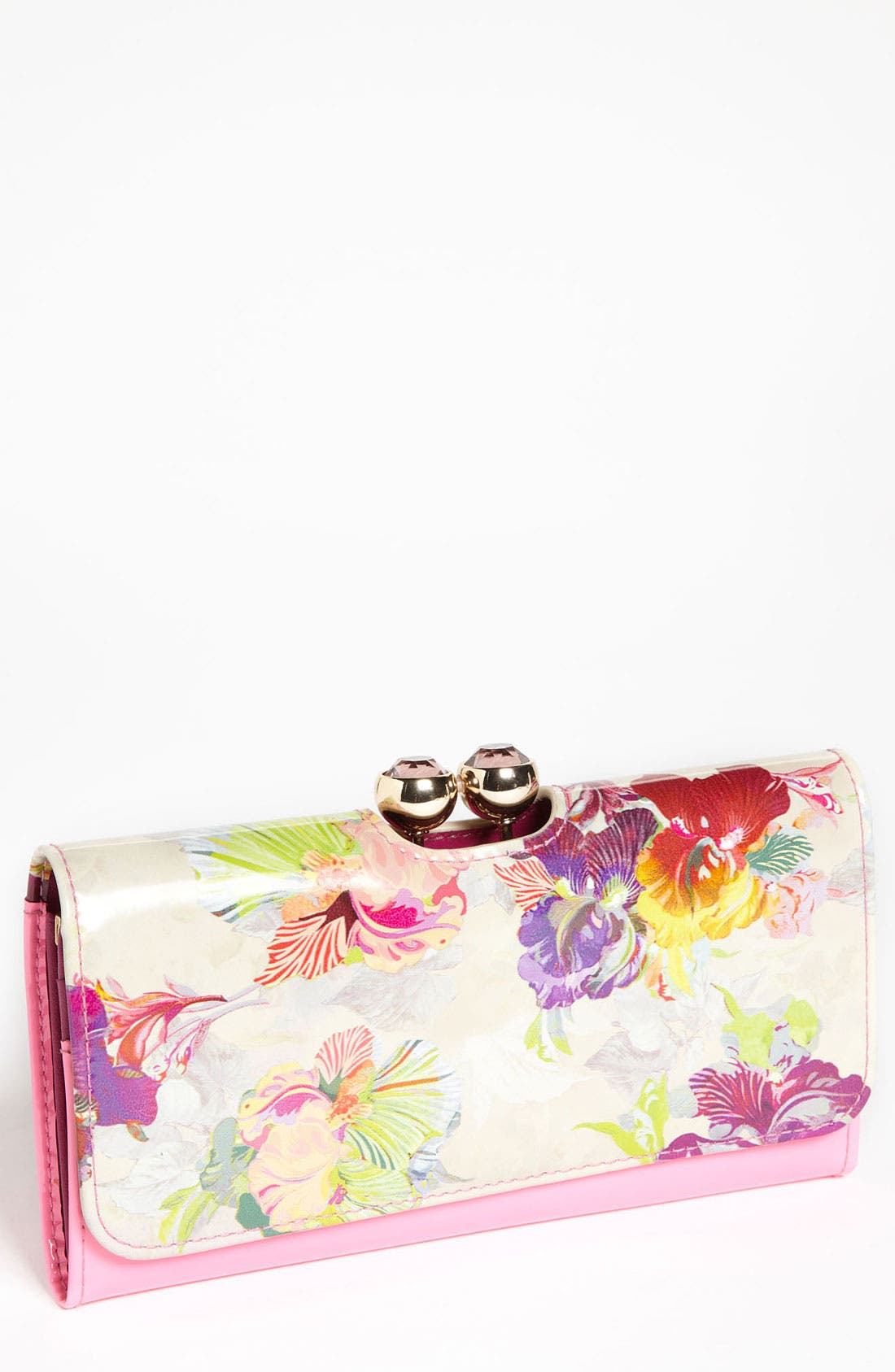 Main Image - Ted Baker London 'Treasured Orchid Crystal Bobble' Matinee Wallet