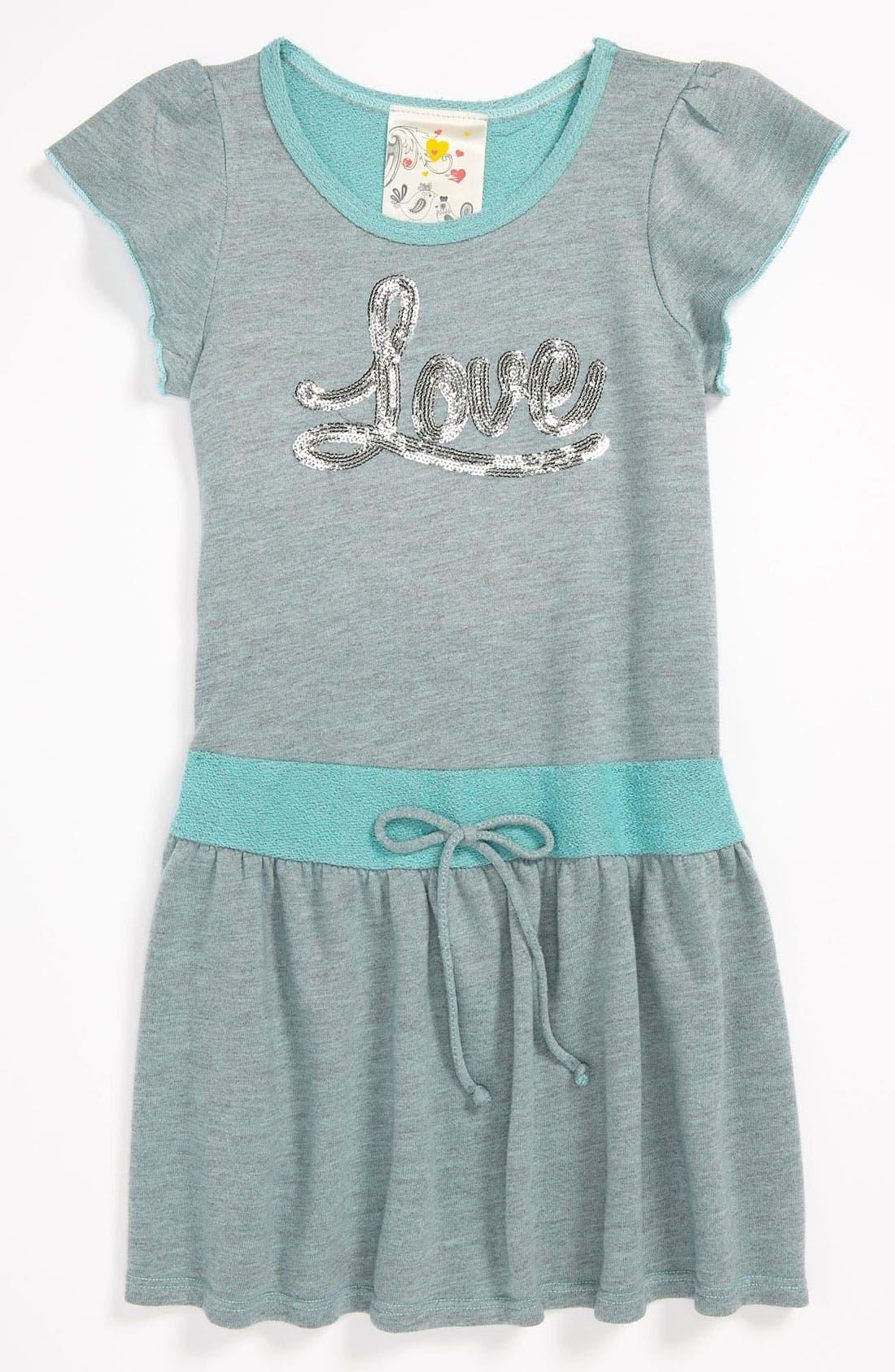 Main Image - Jenna & Jessie Skater Dress (Little Girls)