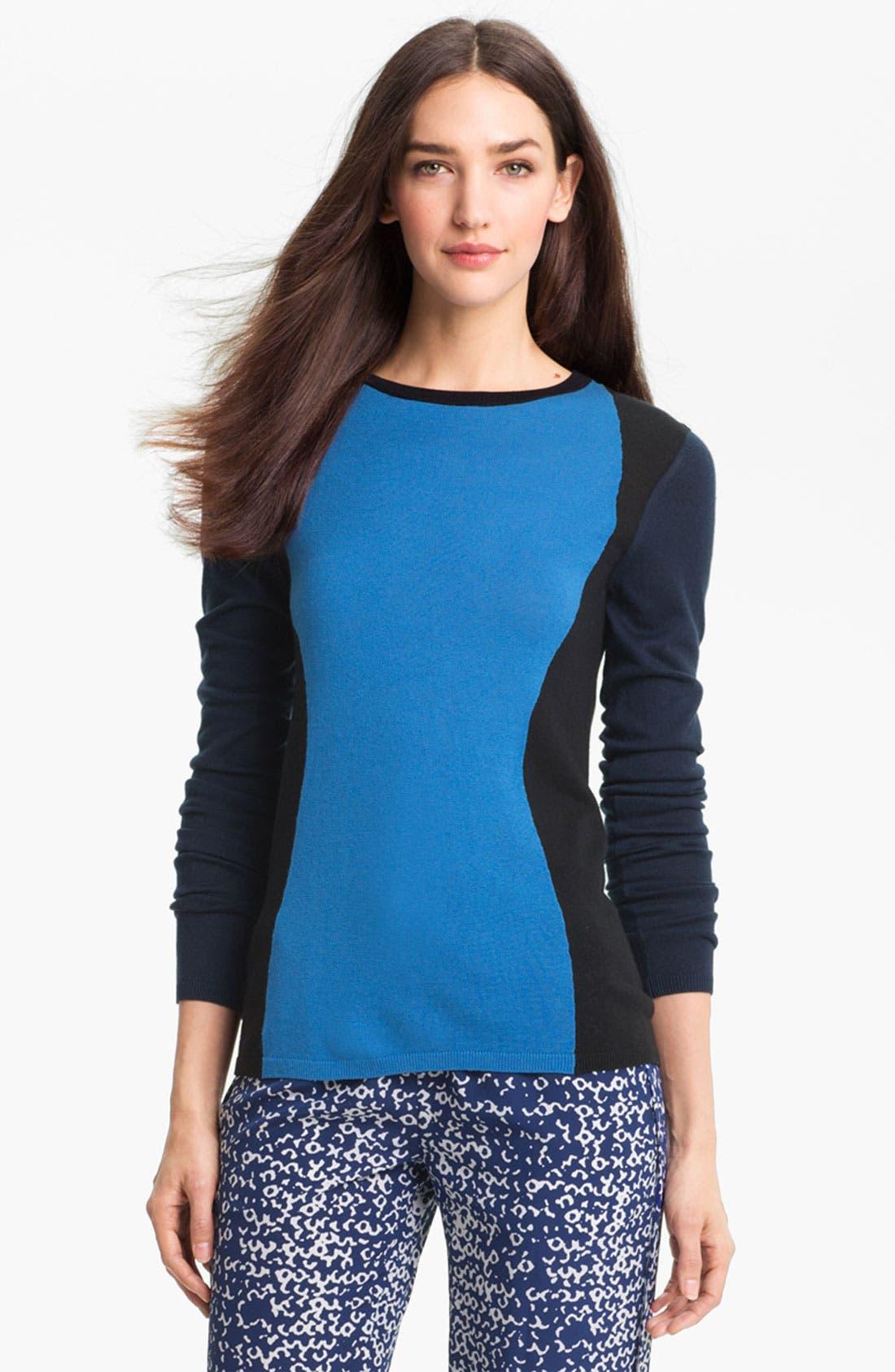 Main Image - Diane von Furstenberg 'Alex' Silk & Cashmere Sweater