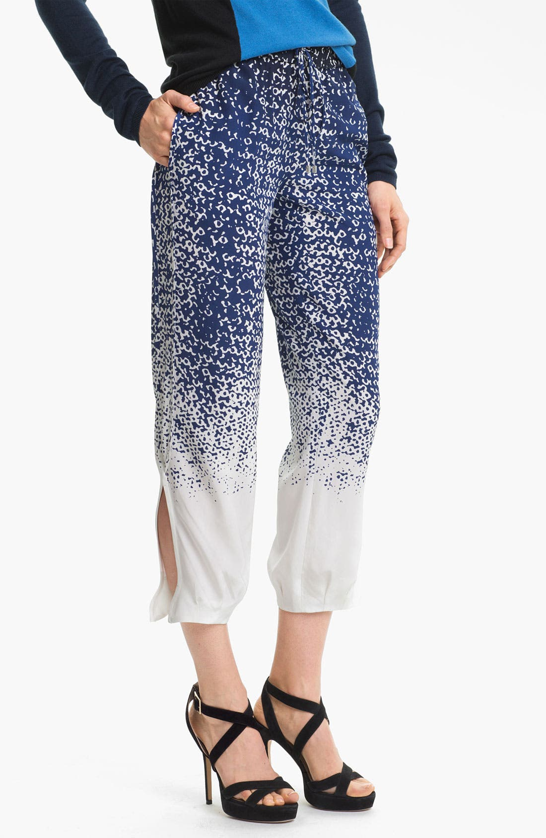 Alternate Image 1 Selected - Diane von Furstenberg 'Kamaris' Crop Silk Pants