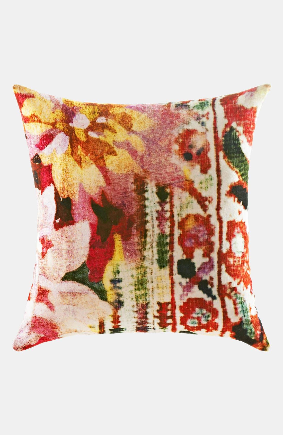 Main Image - Poetic Wanderlust 'Leandre' Print Velvet Pillow