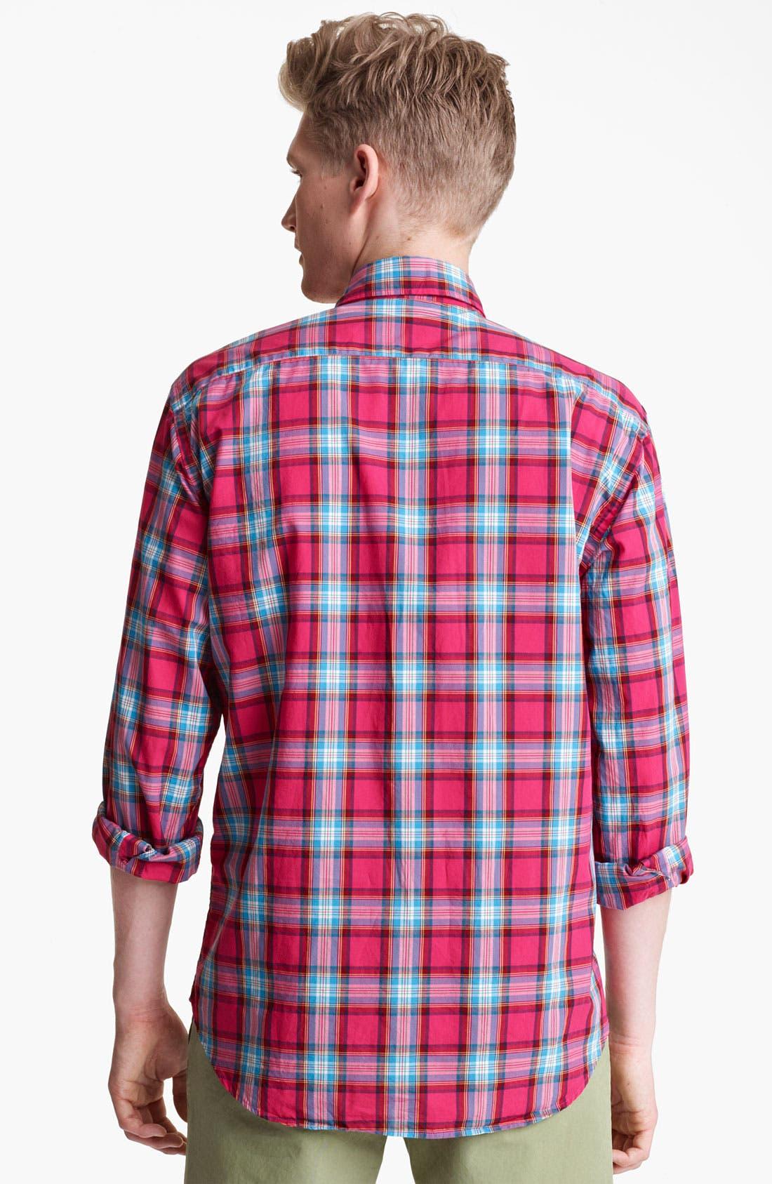 Alternate Image 2  - Mason's Plaid Woven Shirt