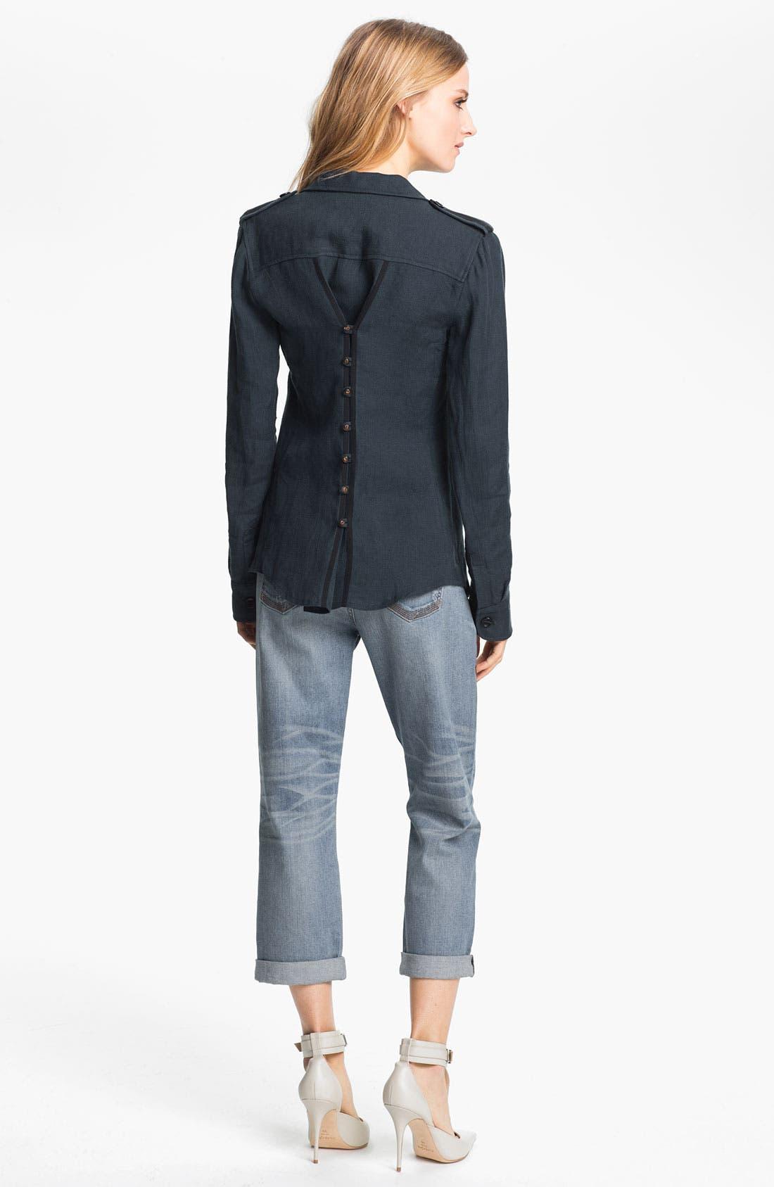 Alternate Image 4  - Elizabeth and James 'New Bedford' Rumpled Linen Jacket