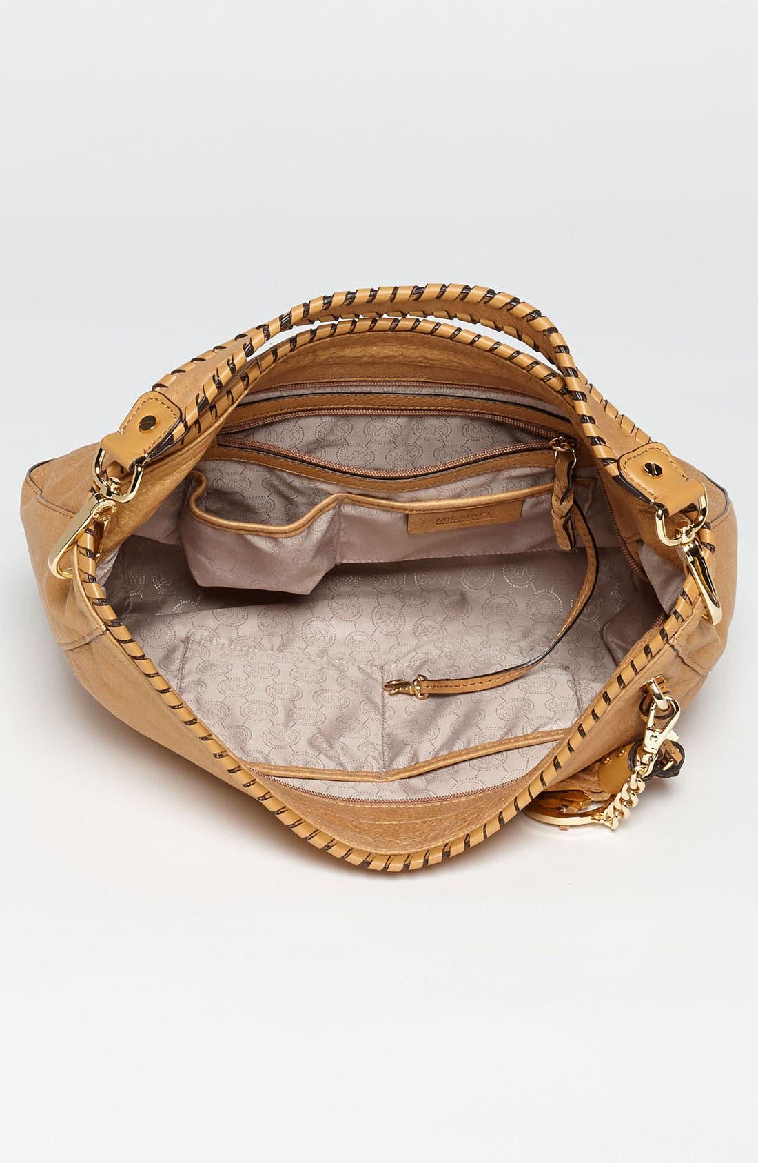 Alternate Image 3  - MICHAEL Michael Kors 'Bennet - Large' Glazed Nubuck Shoulder Bag
