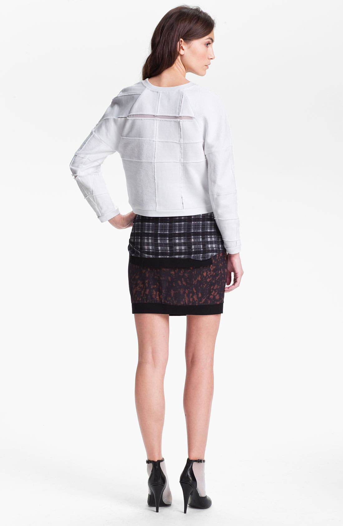 Alternate Image 2  - 3.1 Phillip Lim 'Cut Up' Plaid Sweatshirt