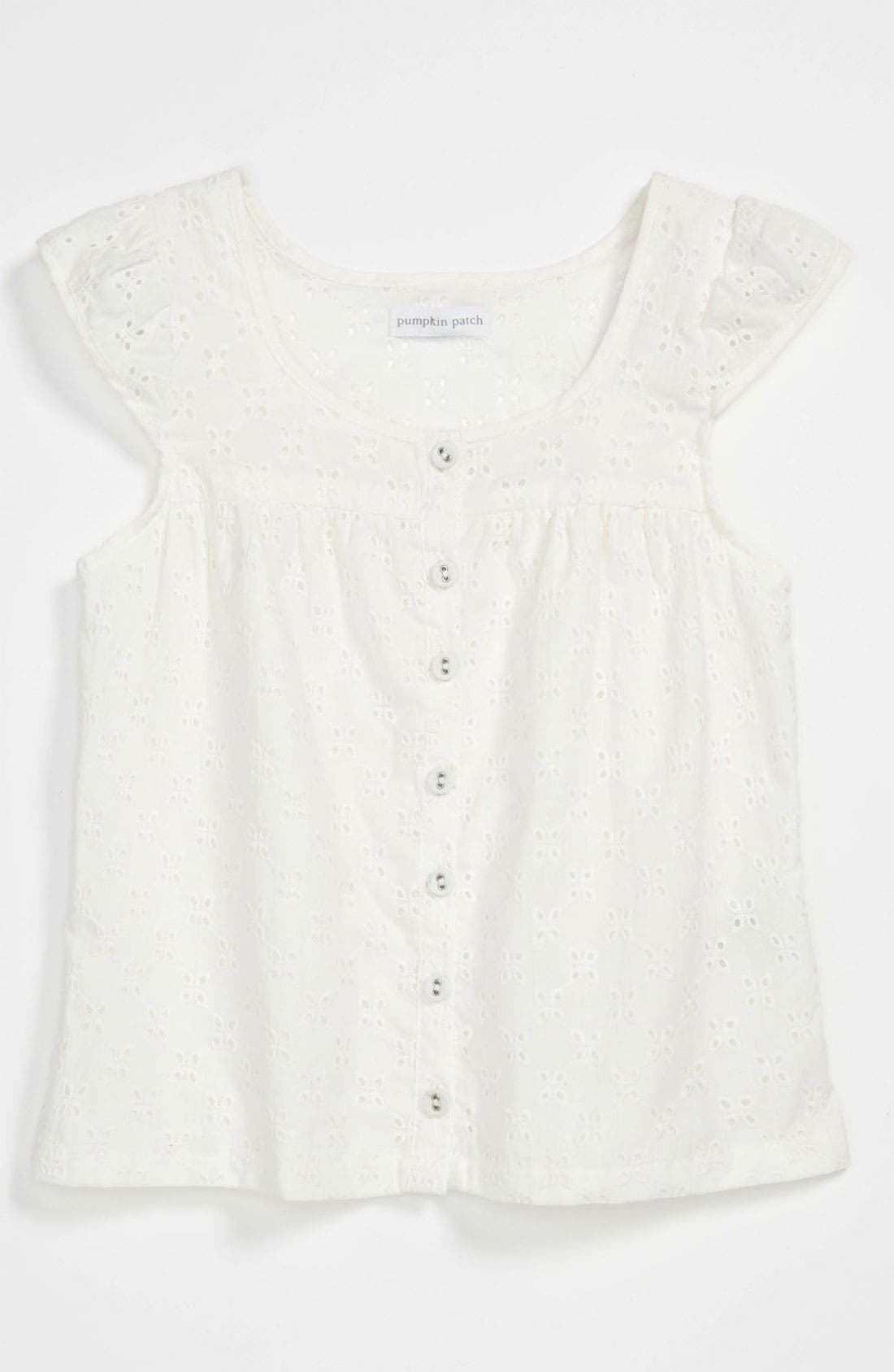 Alternate Image 1 Selected - Pumpkin Patch 'Anglaise' Eyelet Lace Top (Little Girls & Big Girls)