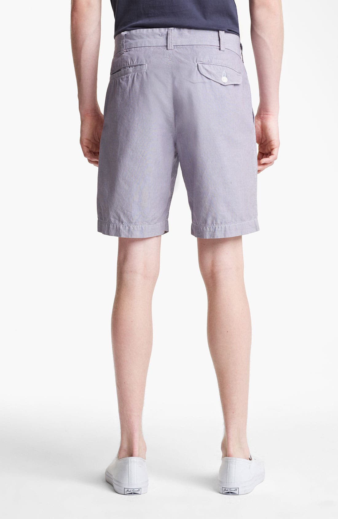 Alternate Image 2  - Save Khaki Microstripe Bermuda Shorts