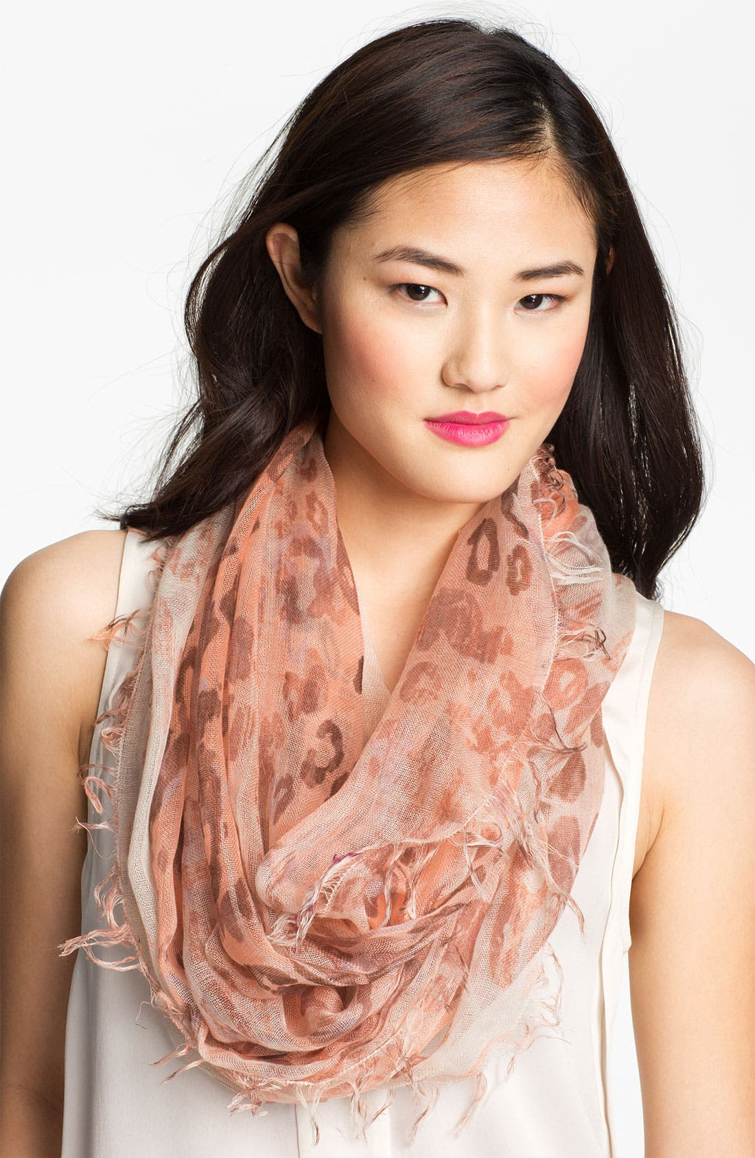 Alternate Image 1 Selected - Collection XIIX 'Washed Animal Spot' Infinity Scarf