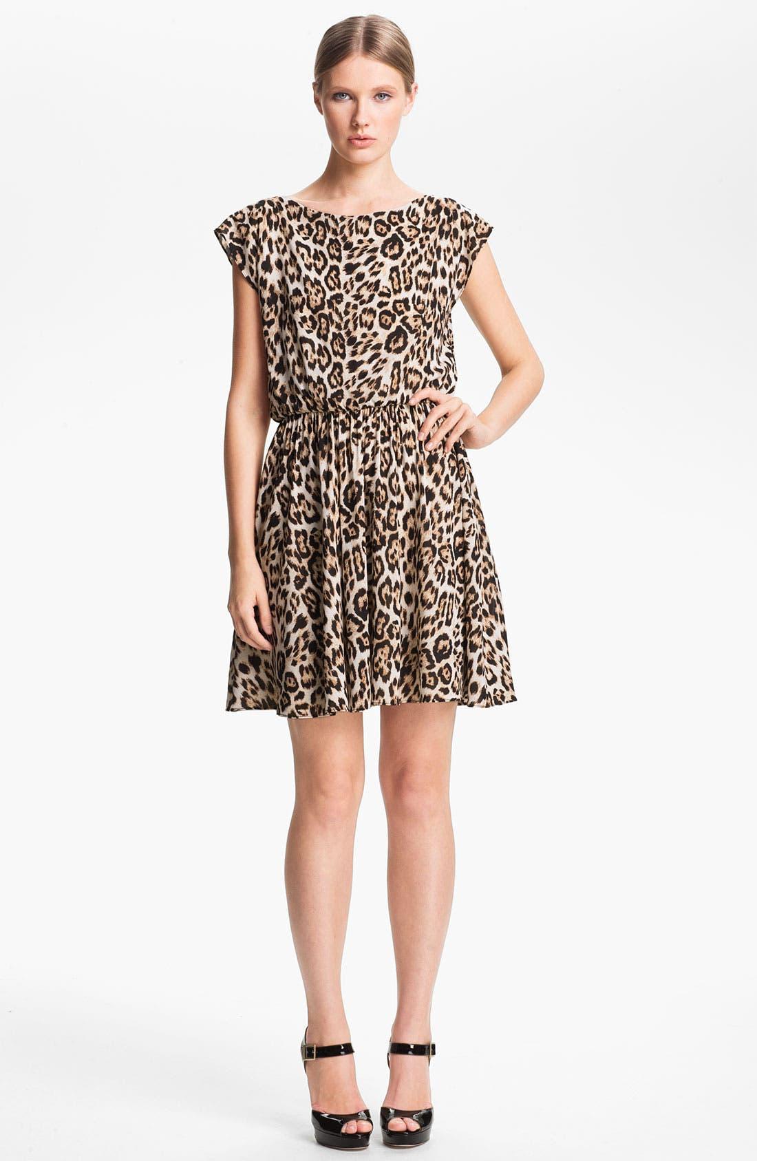 Alternate Image 1 Selected - Alice + Olivia Leopard Print Dress