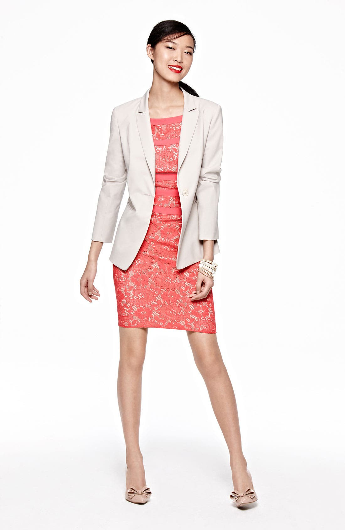 Alternate Image 1 Selected - Chaus Blazer, Adrianna Papell Dress & Accessories