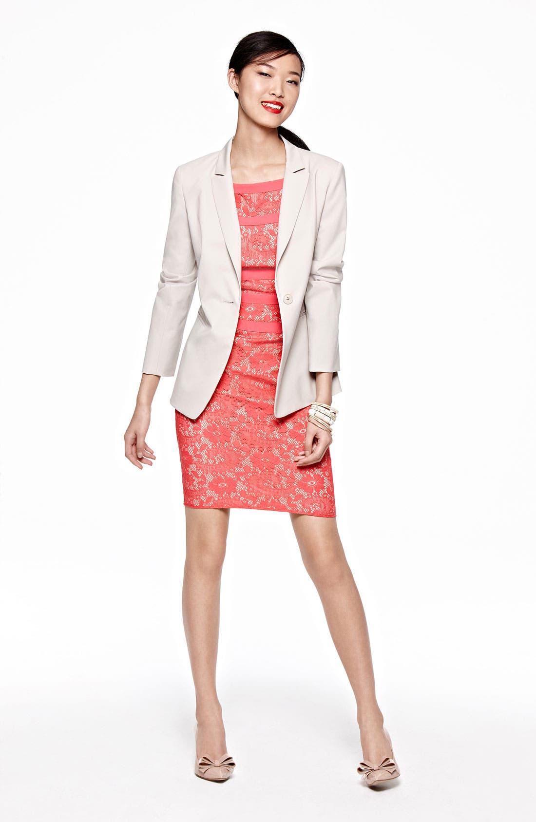 Main Image - Chaus Blazer, Adrianna Papell Dress & Accessories