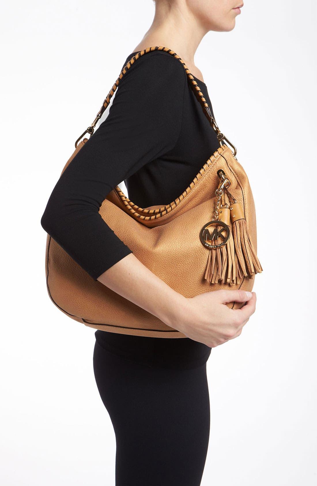 Alternate Image 2  - MICHAEL Michael Kors 'Bennet - Large' Glazed Nubuck Shoulder Bag