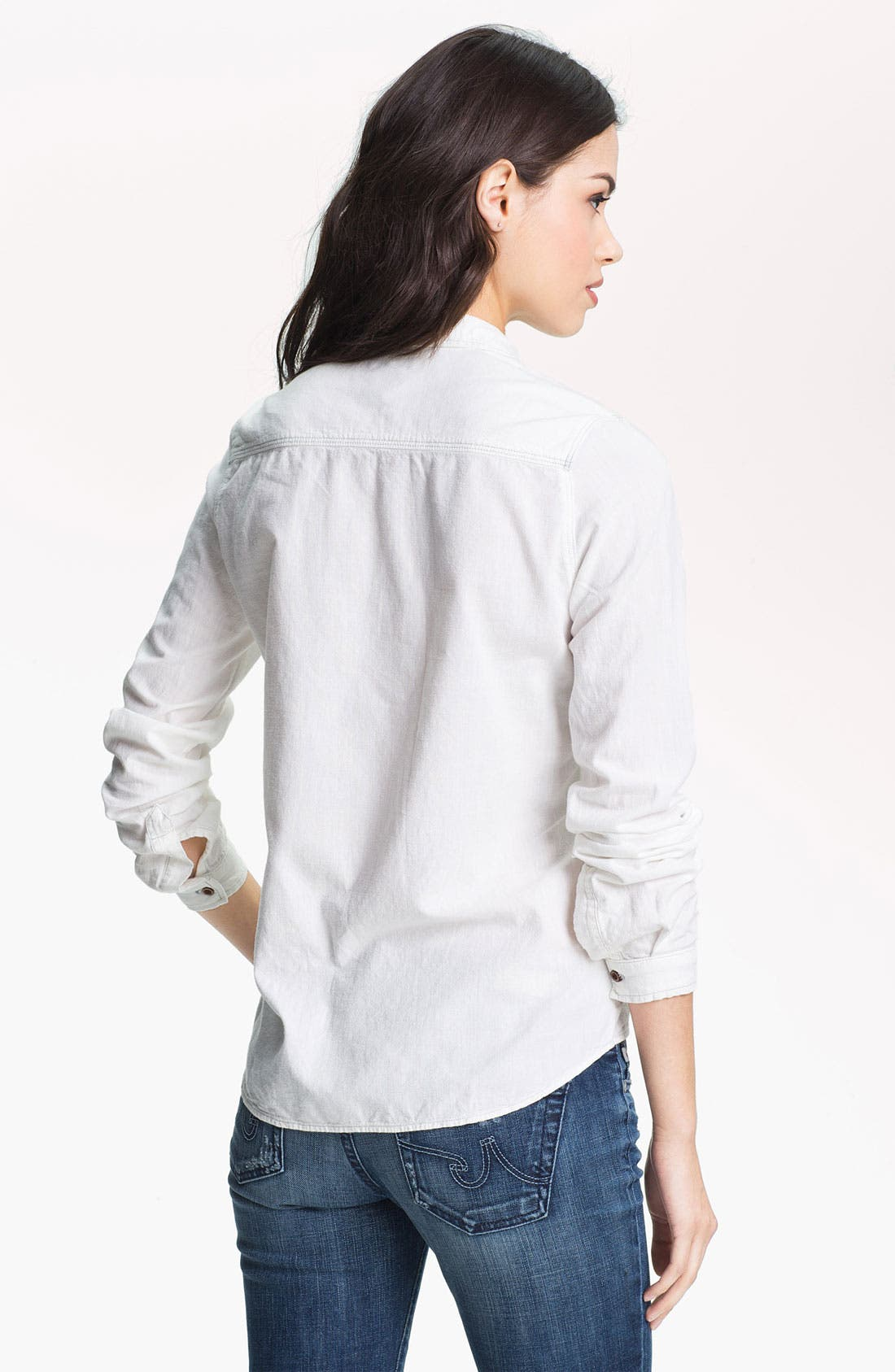 Alternate Image 2  - Maison Scotch Western Denim Shirt