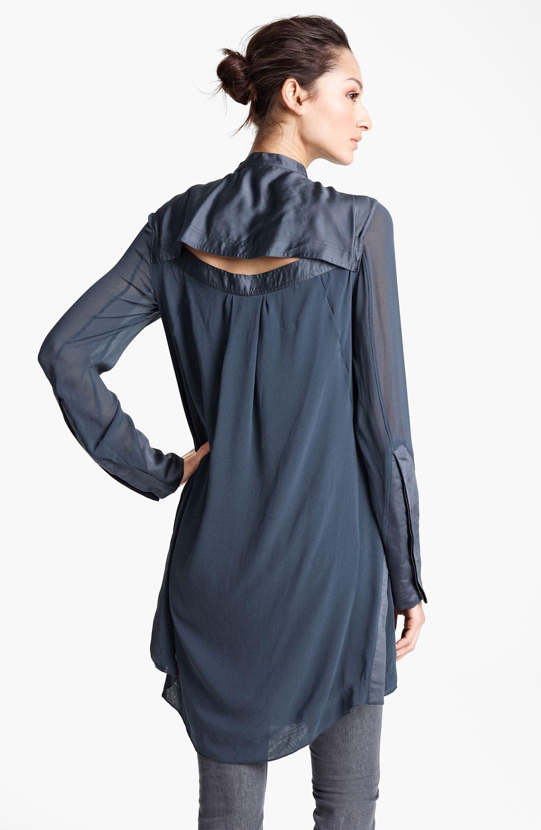 Alternate Image 2  - Donna Karan Collection Silk Georgette Tunic