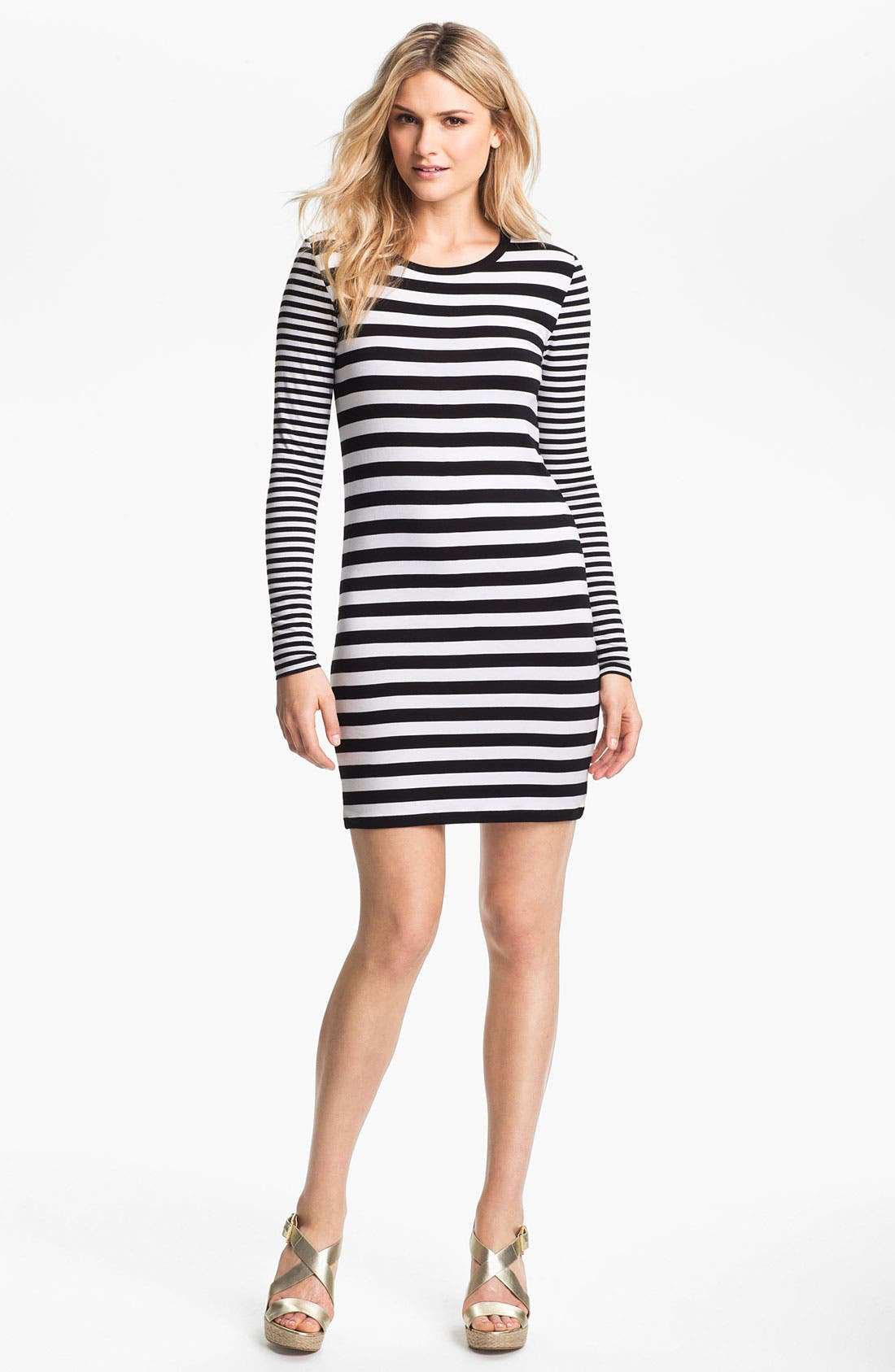 Main Image - MICHAEL Michael Kors Stripe Crewneck Dress
