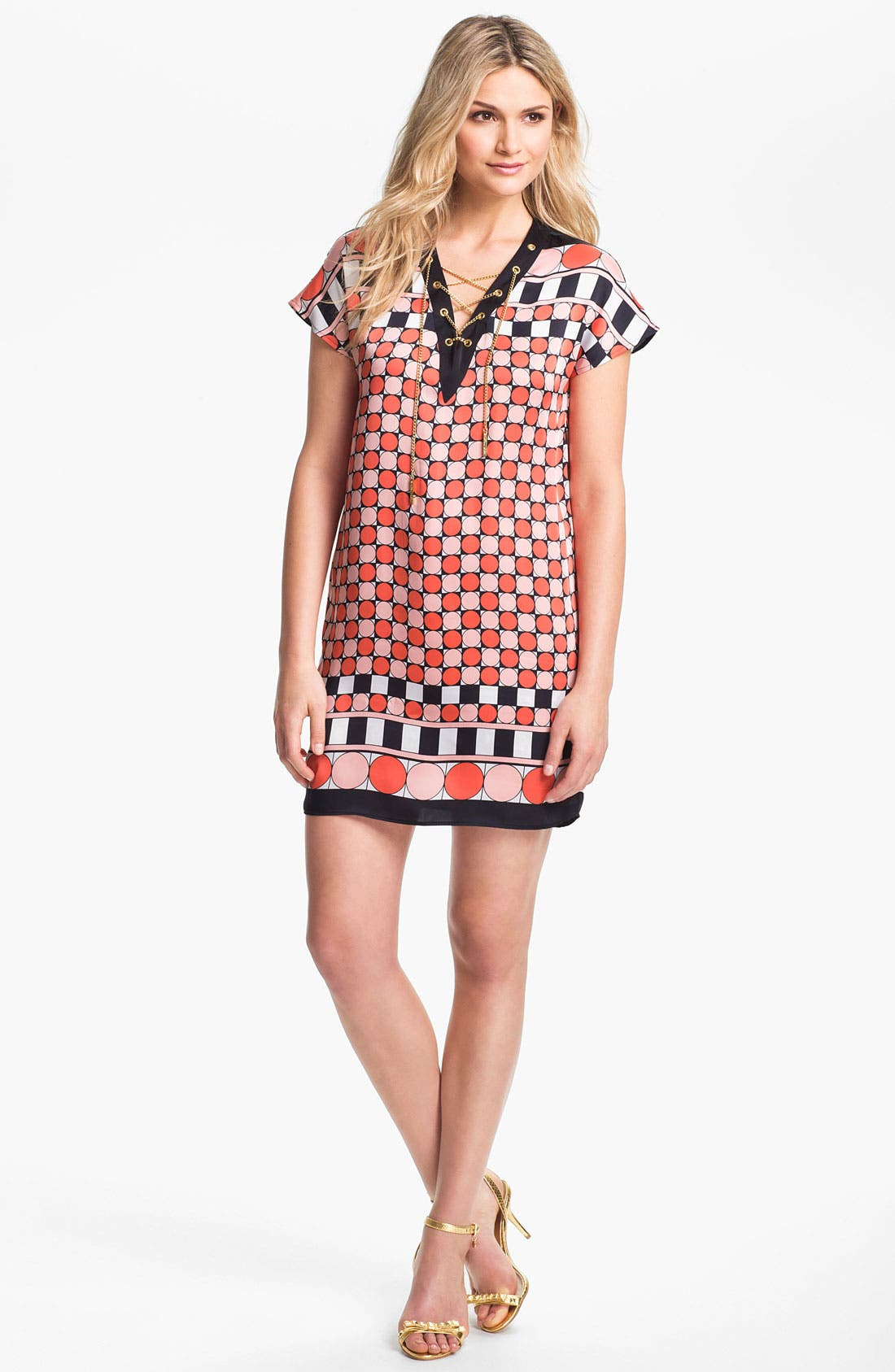 Main Image - MICHAEL Michael Kors Dot Print Wedge Dress