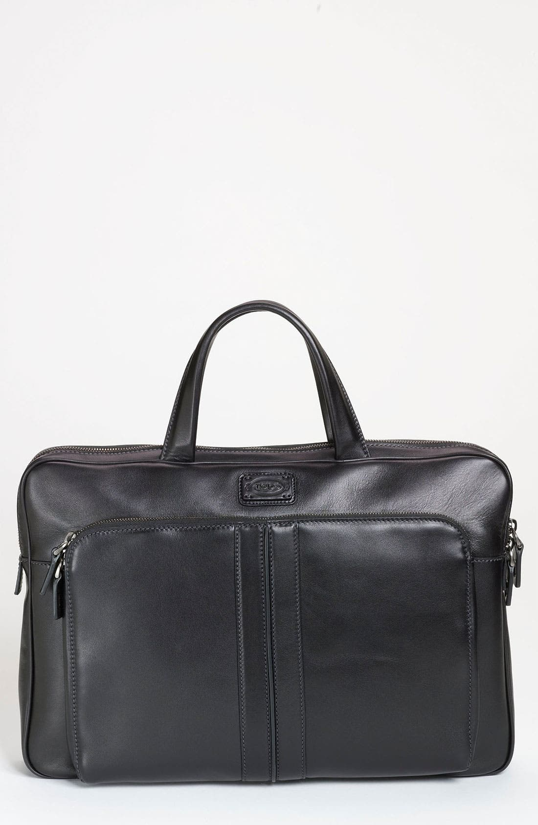 Alternate Image 1 Selected - Tod's Slim Leather Briefcase