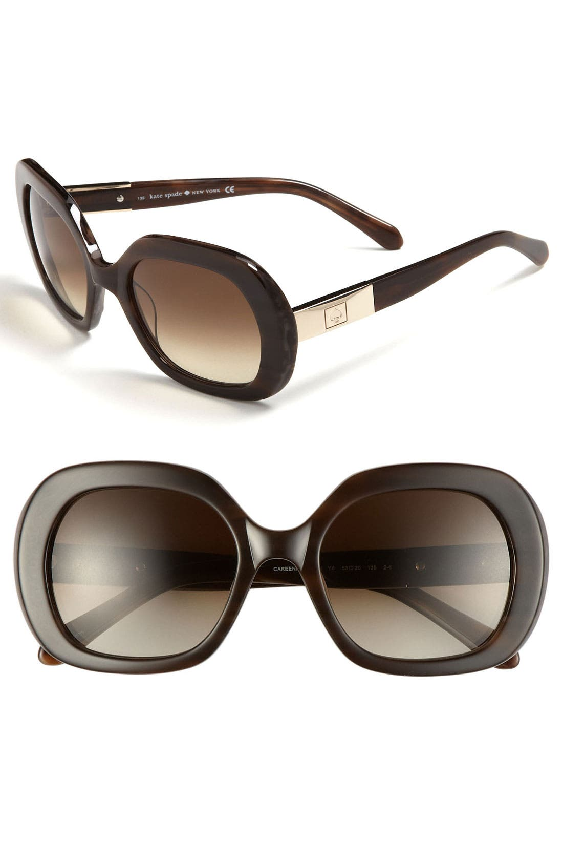 Main Image - kate spade new york 'careen' 53mm sunglasses