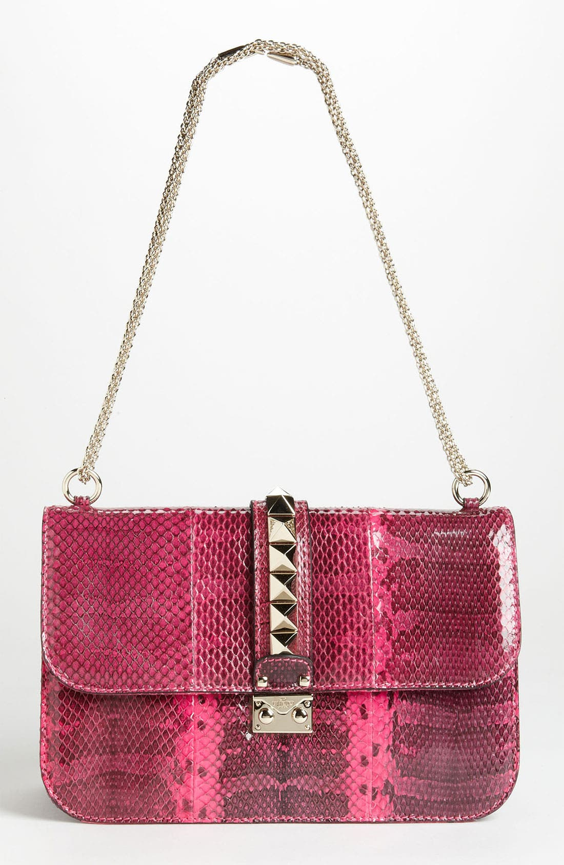 Alternate Image 1 Selected - Valentino 'Lock - Medium' Genuine Snakeskin Shoulder Bag