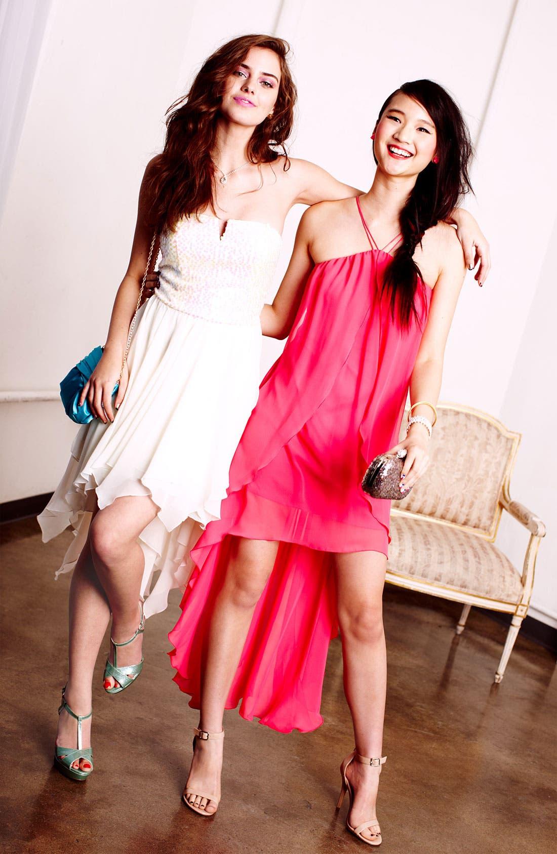 Alternate Image 5  - As U Wish Embellished High/Low Dress (Juniors)