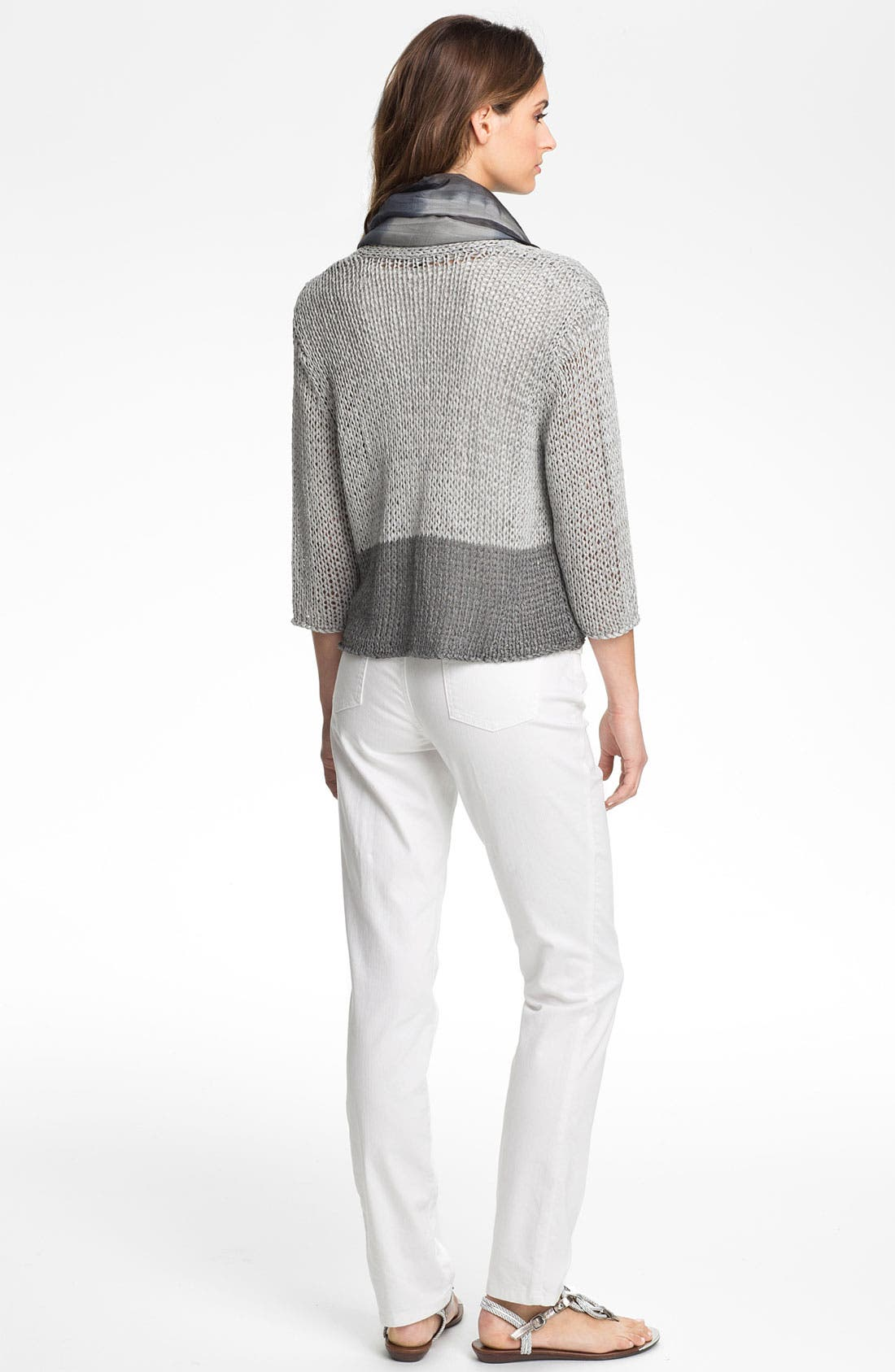 Alternate Image 5  - Eileen Fisher Open Stitch Cardigan (Petite)