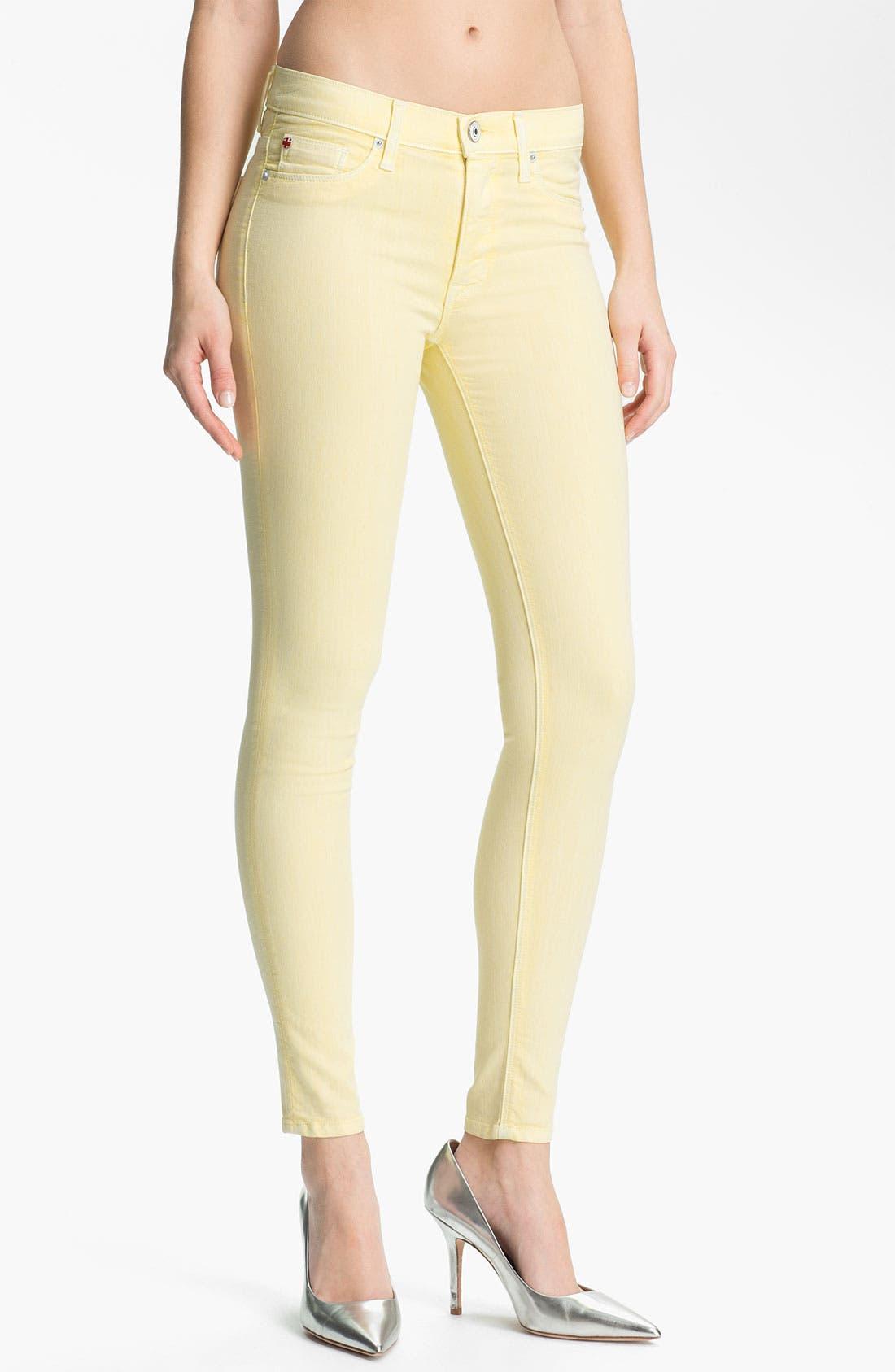 Main Image - Hudson Jeans 'Nico' Skinny Overdyed Jeans (Banana)