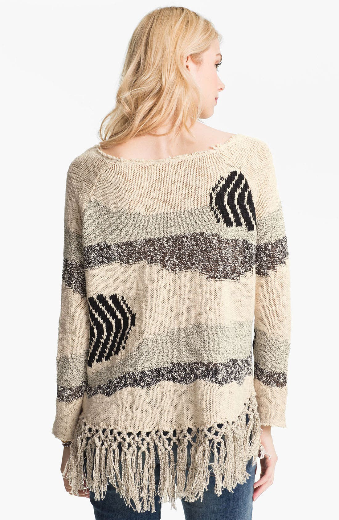Alternate Image 2  - Free People 'Landscape' Fringed Sweater