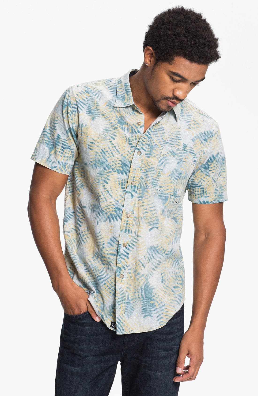 Alternate Image 1 Selected - RVCA 'Fern N Burn' Woven Shirt