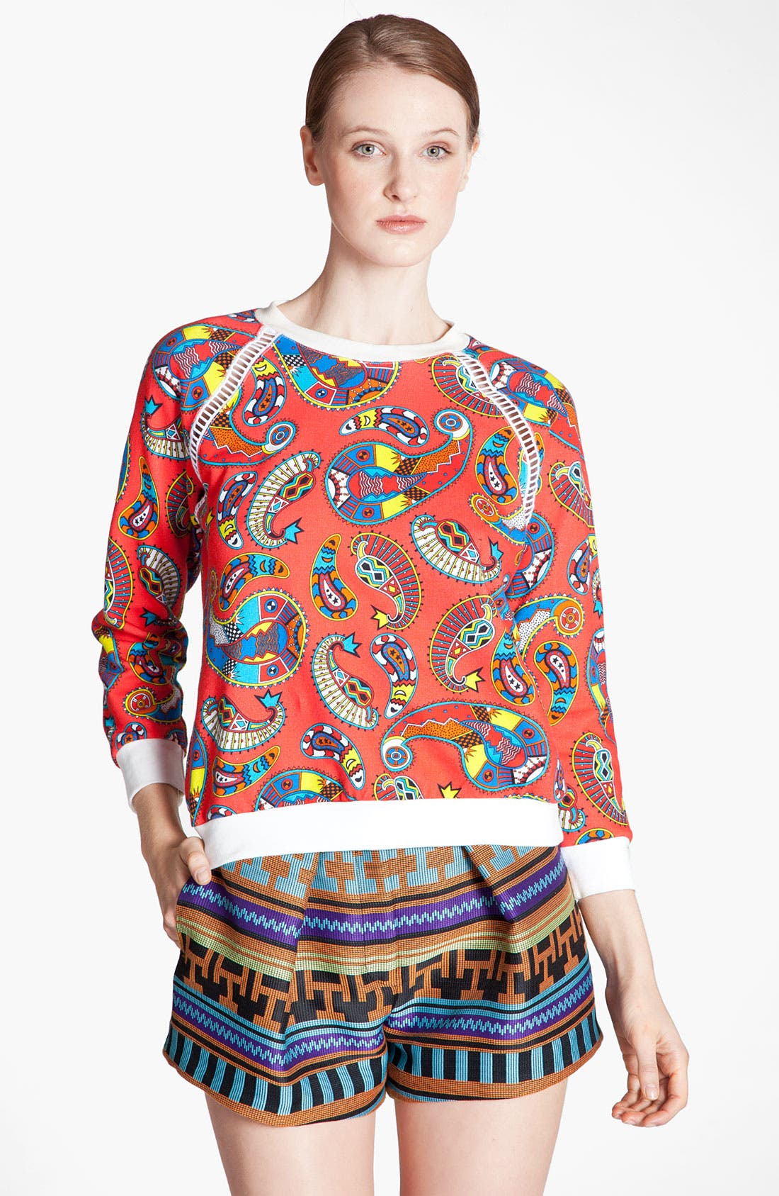 Alternate Image 2  - MSGM 'Paisley Memphis Print' Sweatshirt