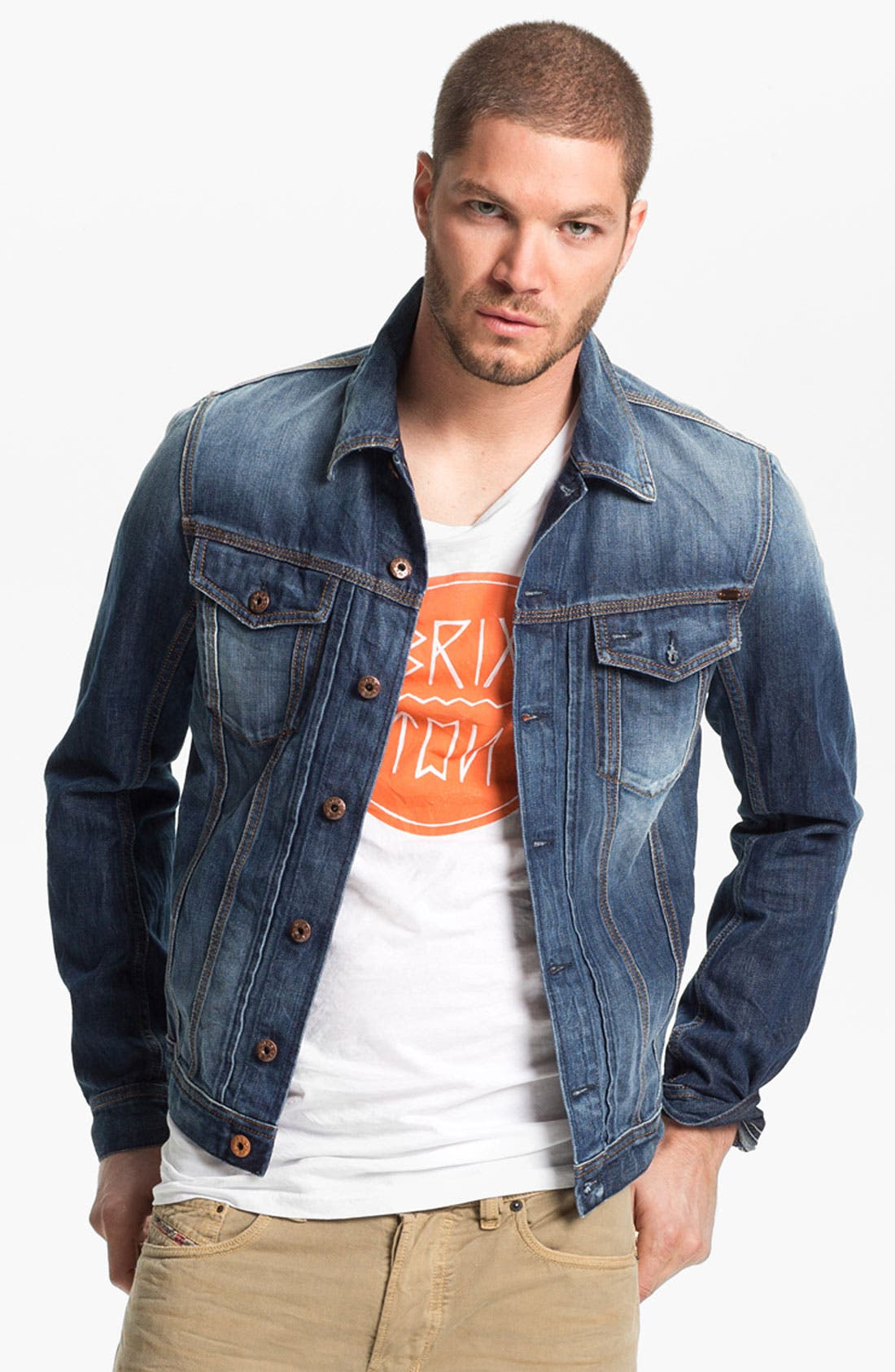 Alternate Image 1 Selected - DIESEL® 'Elshar' Denim Jacket