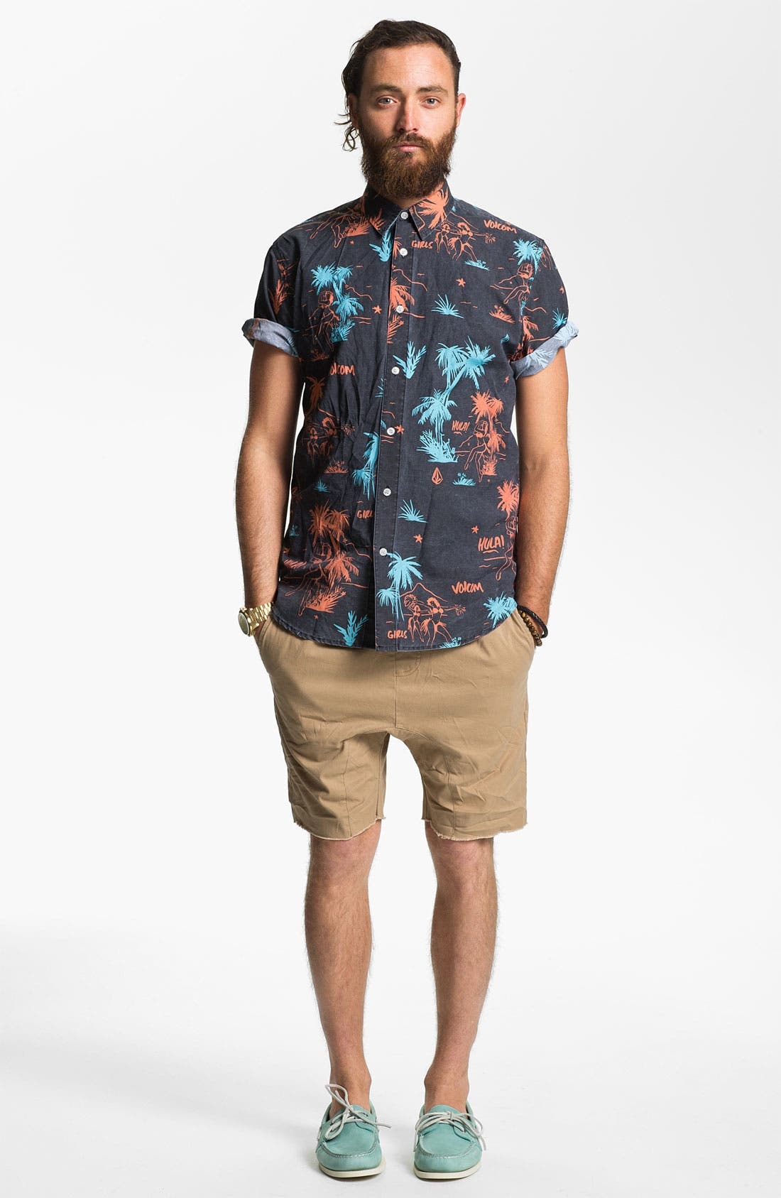Alternate Image 4  - Volcom 'Mental Fun' Print Woven Shirt