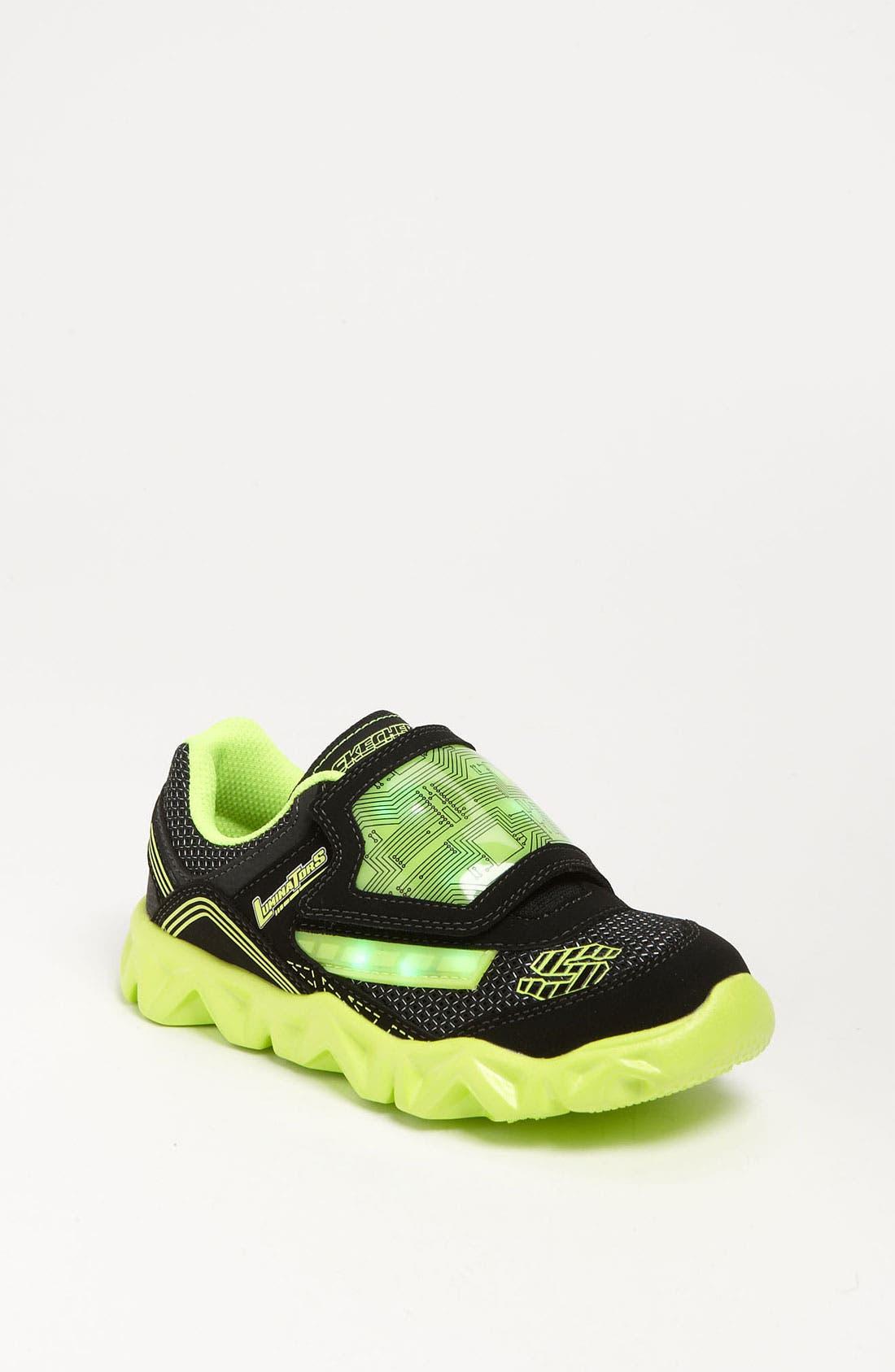 Alternate Image 1 Selected - SKECHERS 'S Lights - Datarox' Light-Up Sneaker (Toddler & Little Kid)