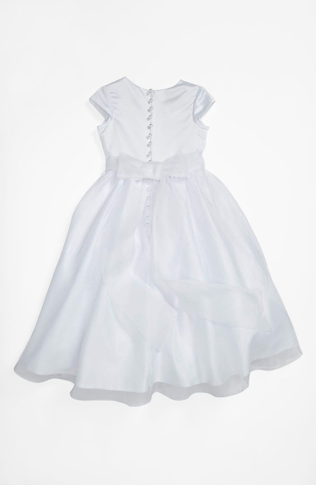Alternate Image 2  - Lauren Marie Beaded Dress (Little Girls & Big Girls)