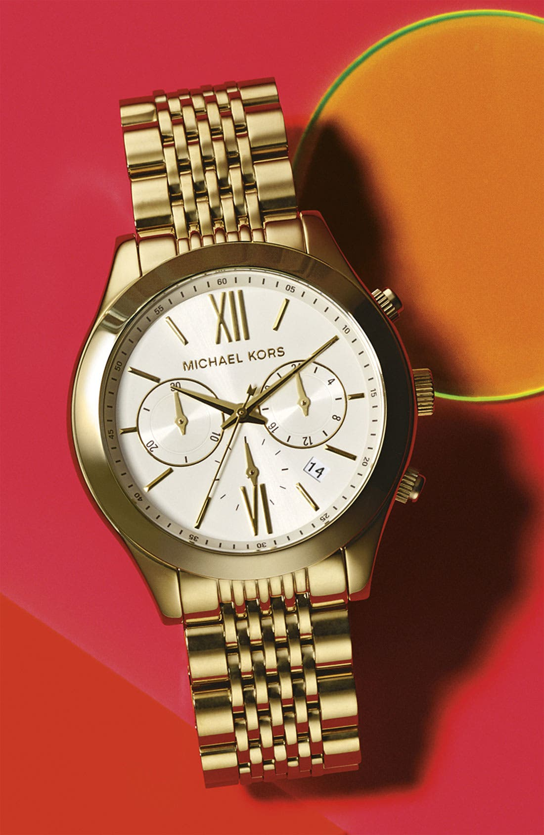 Alternate Image 3  - Michael Kors 'Brookton' Chronograph Bracelet Watch, 42mm