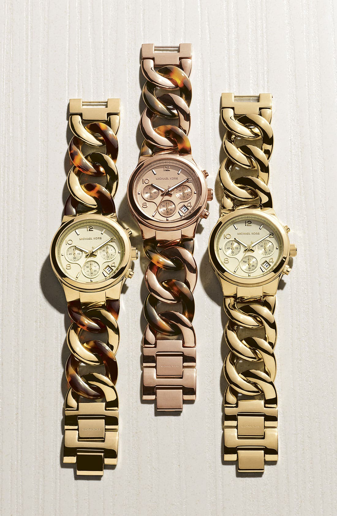 Alternate Image 4  - Michael Kors Chain Bracelet Chronograph Watch, 38mm
