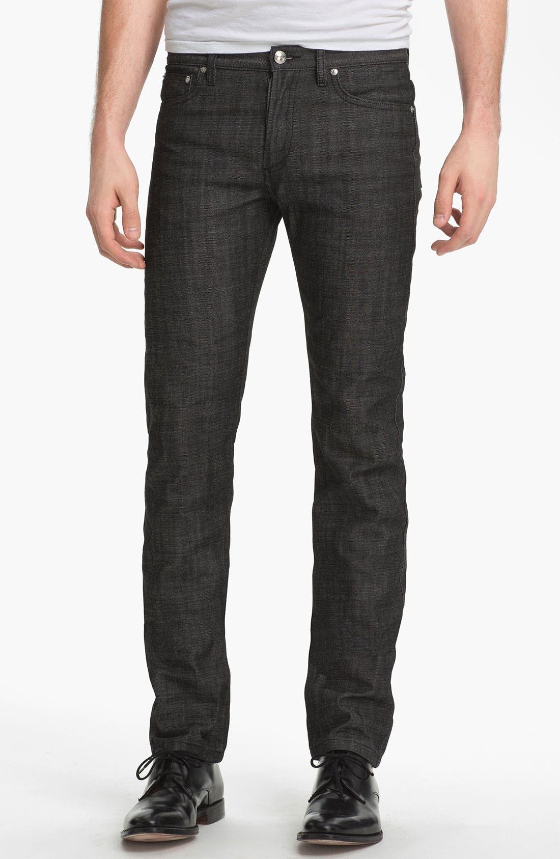 Alternate Image 1 Selected - A.P.C. 'Petit Standard' Slim Leg Jeans (Black) (Online Only)