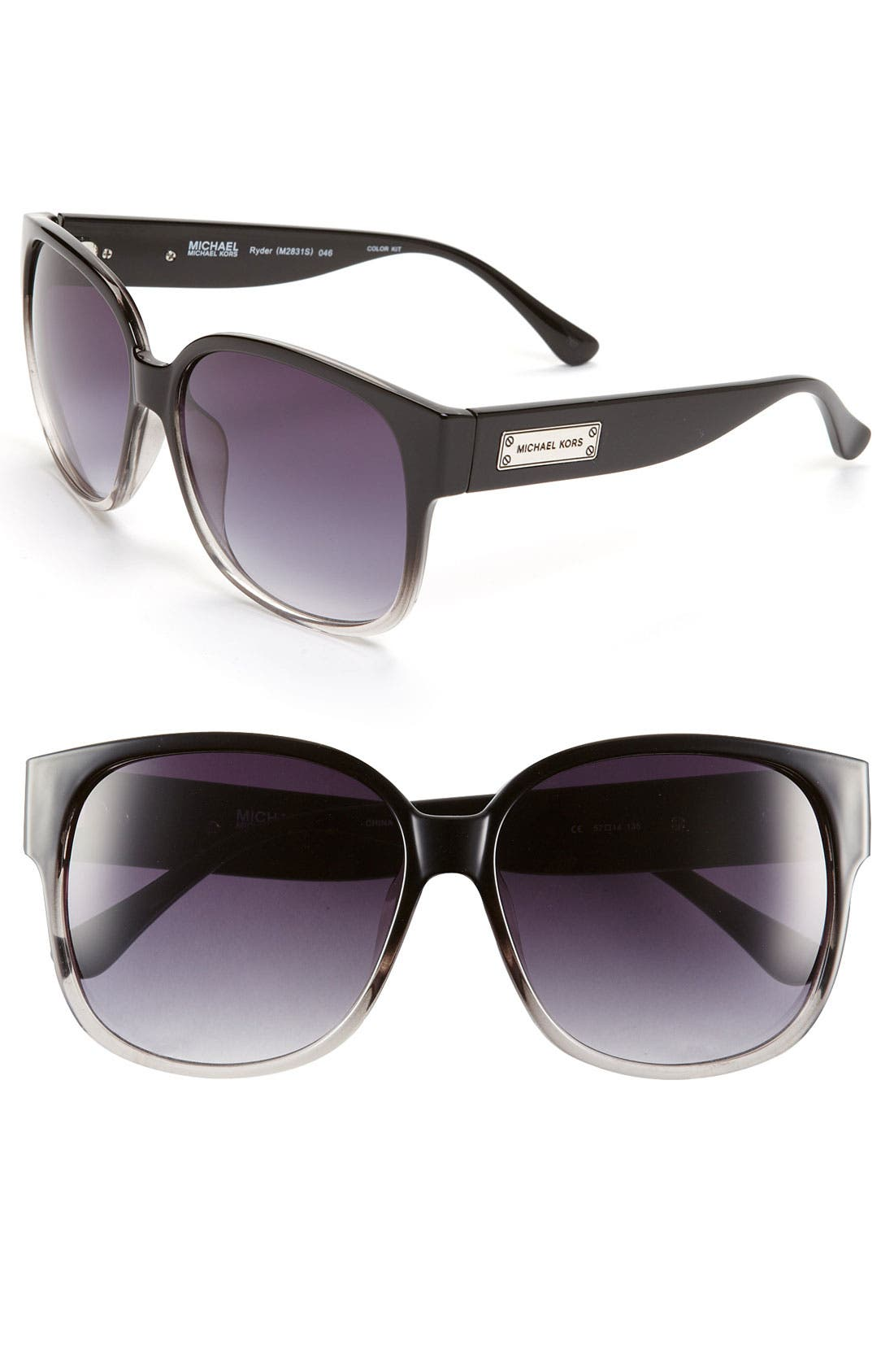 Main Image - MICHAEL Michael Kors 57mm Oversized Sunglasses
