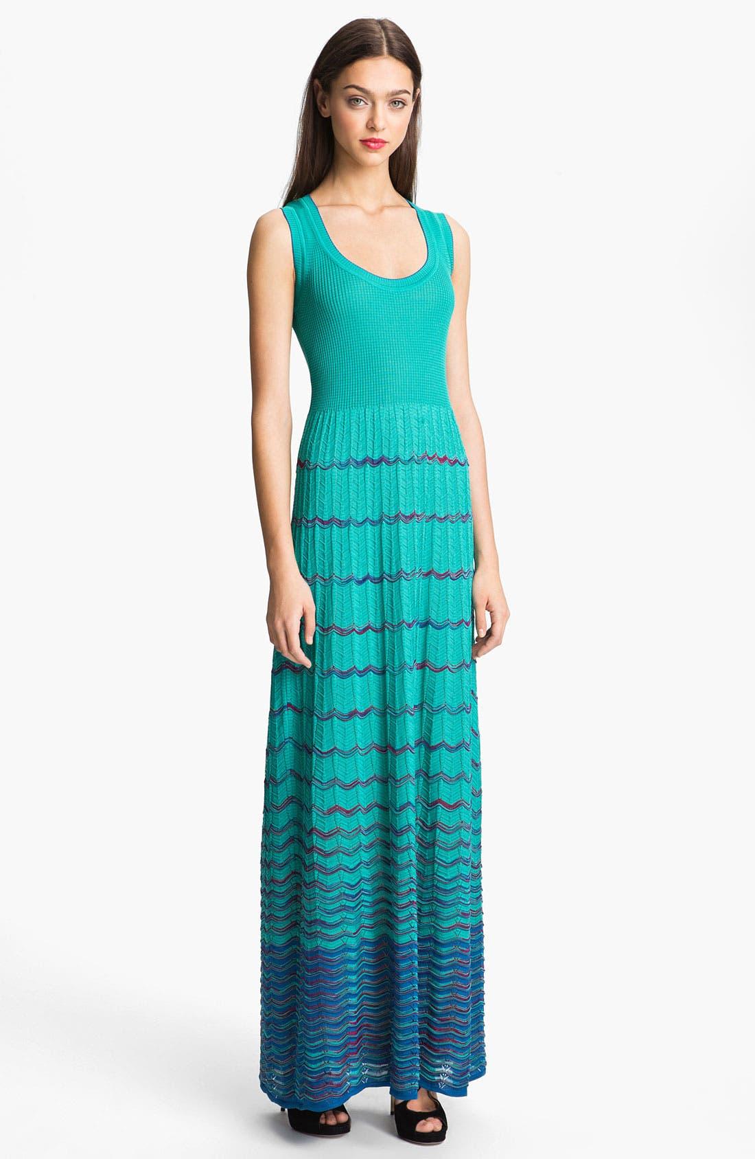 Main Image - M Missoni Wave Stripe Maxi Dress