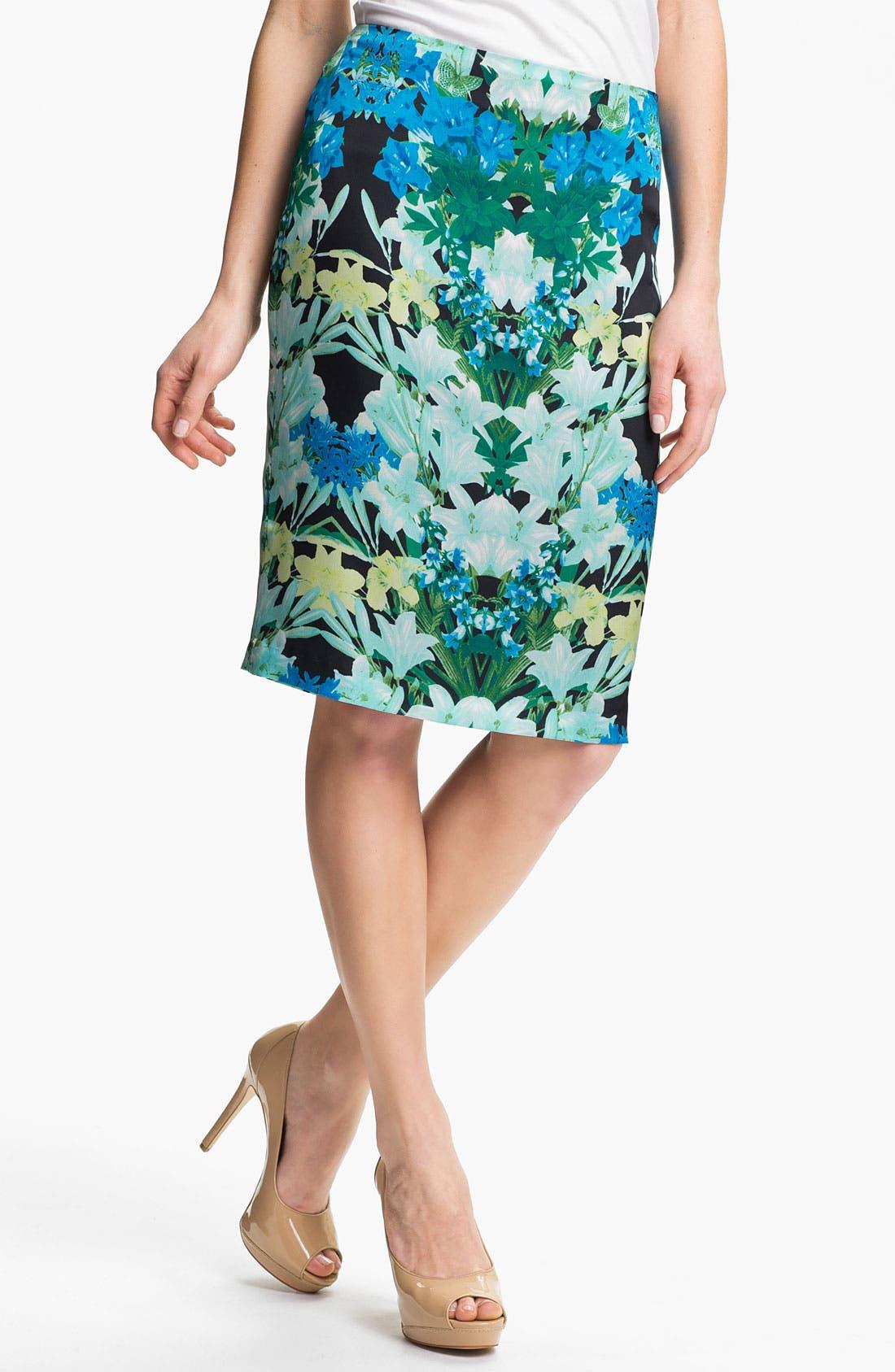 Main Image - Vince Camuto 'Spring Garlands' Pencil Skirt