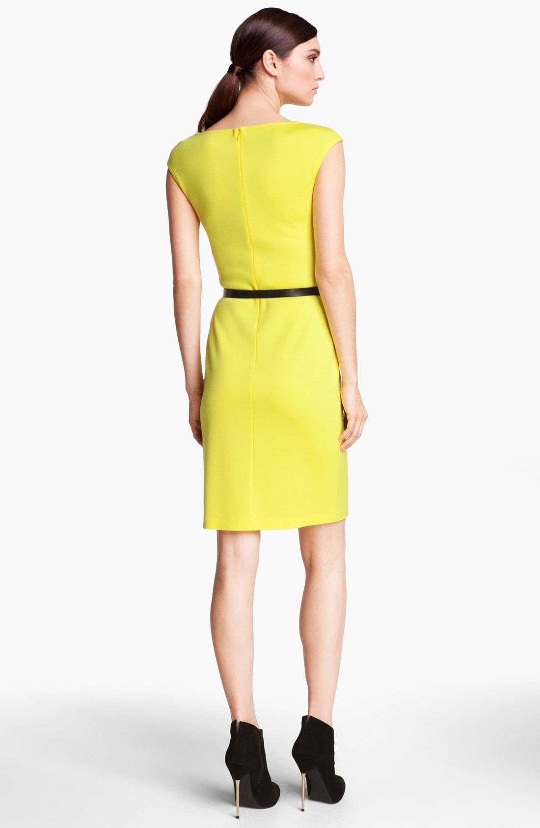 Alternate Image 2  - St. John Collection Cap Sleeve Milano Knit Dress