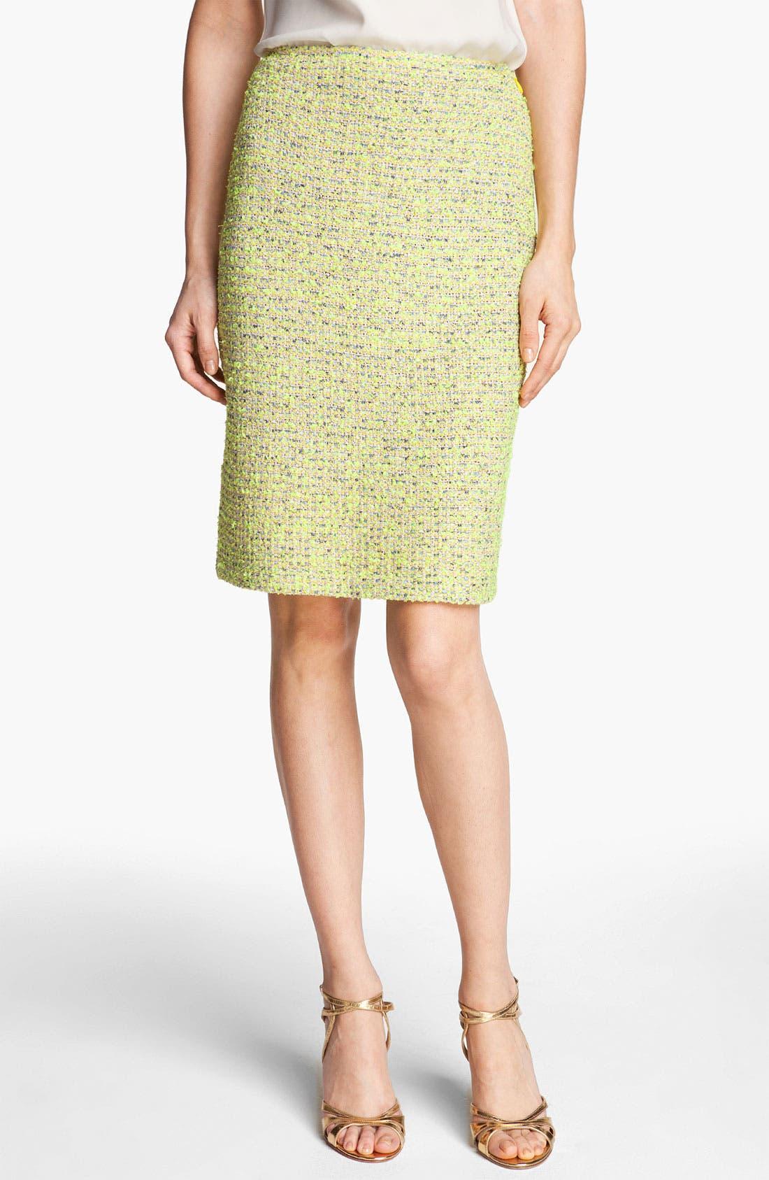 Alternate Image 1 Selected - St. John Collection 'Park Lane' Tweed Skirt