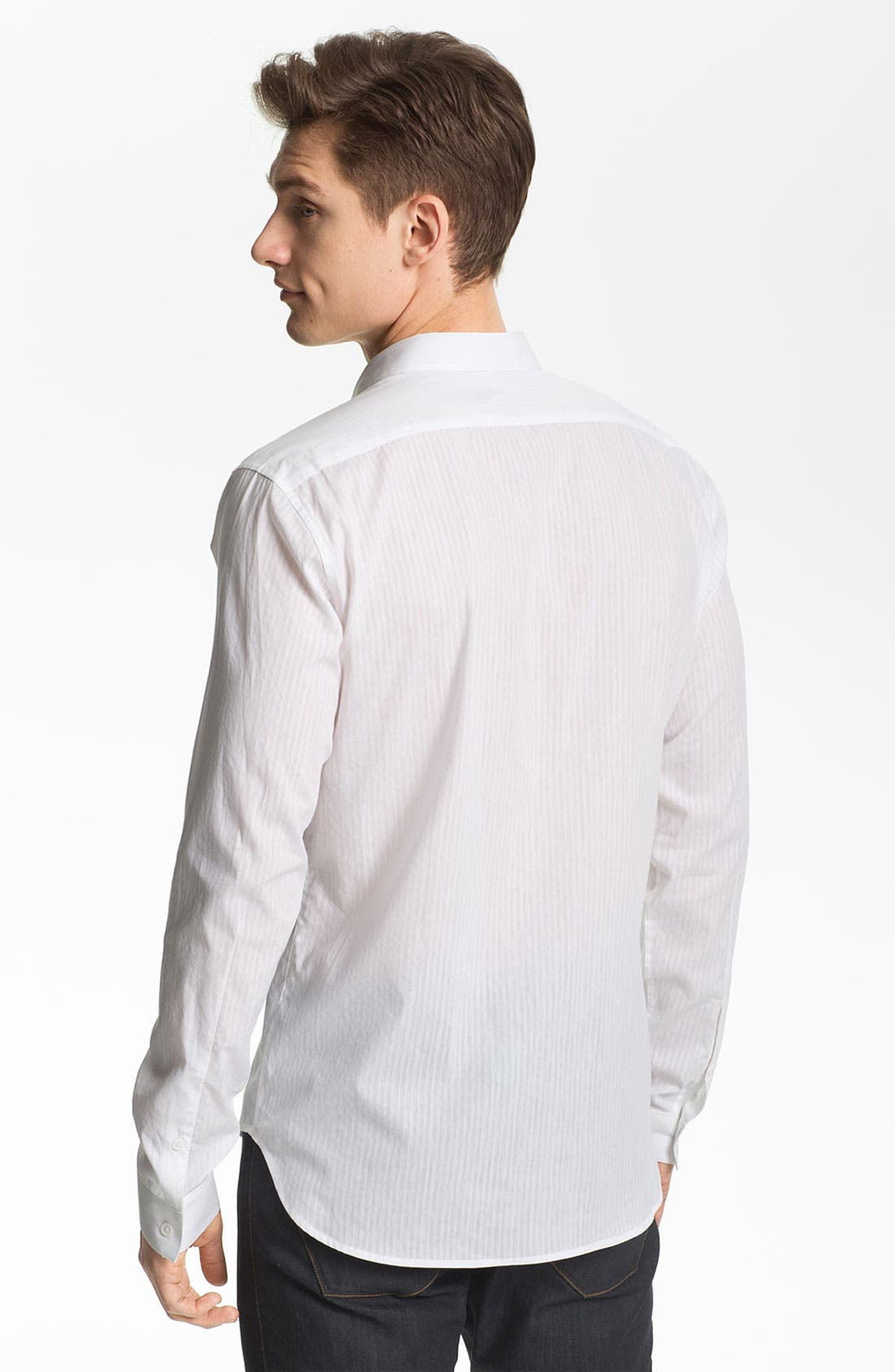 Alternate Image 2  - Theory 'Stephan S. Aldine' Trim Fit Cotton & Linen Sport Shirt