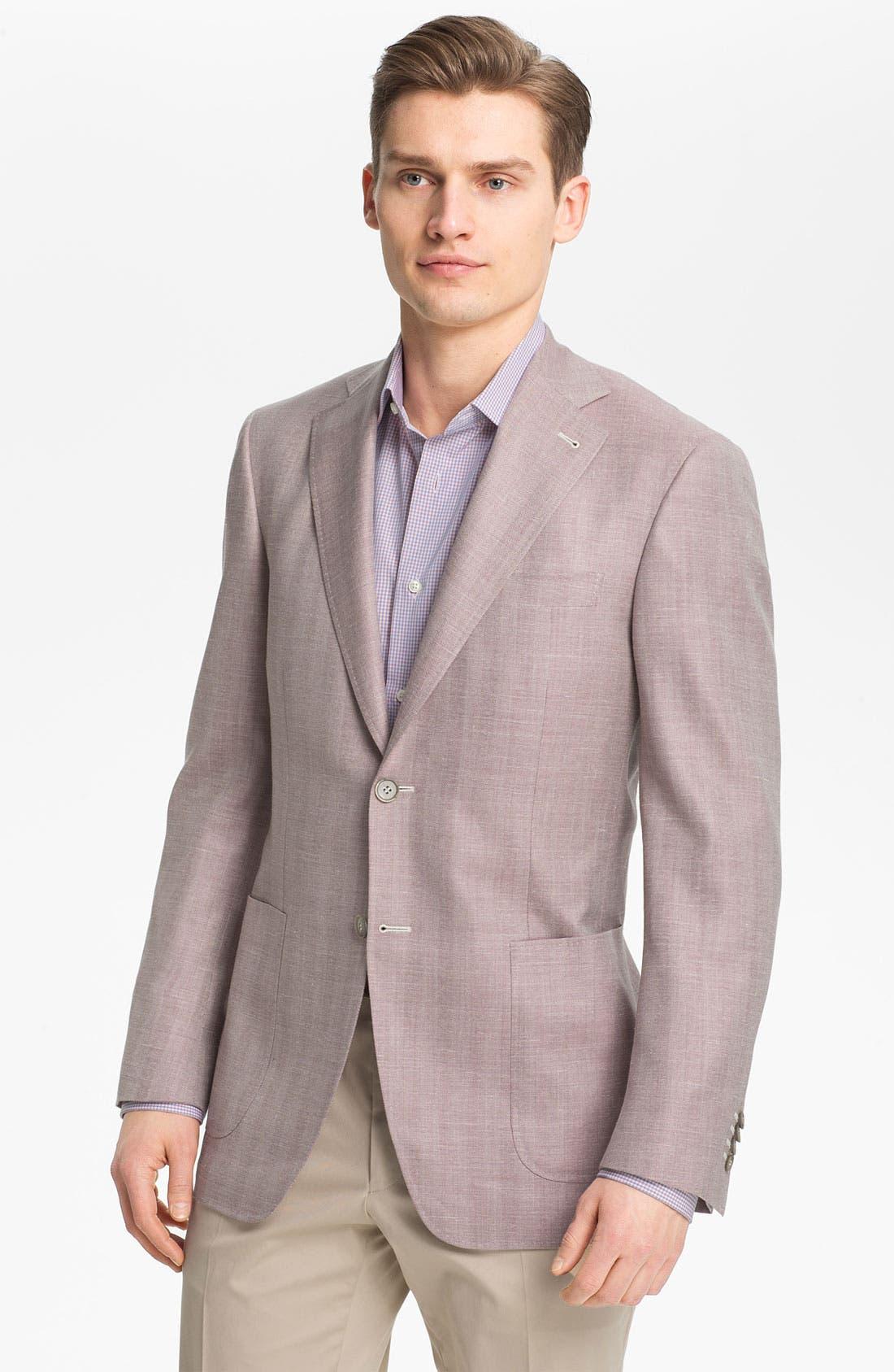 Alternate Image 1 Selected - Canali Herringbone Sportcoat