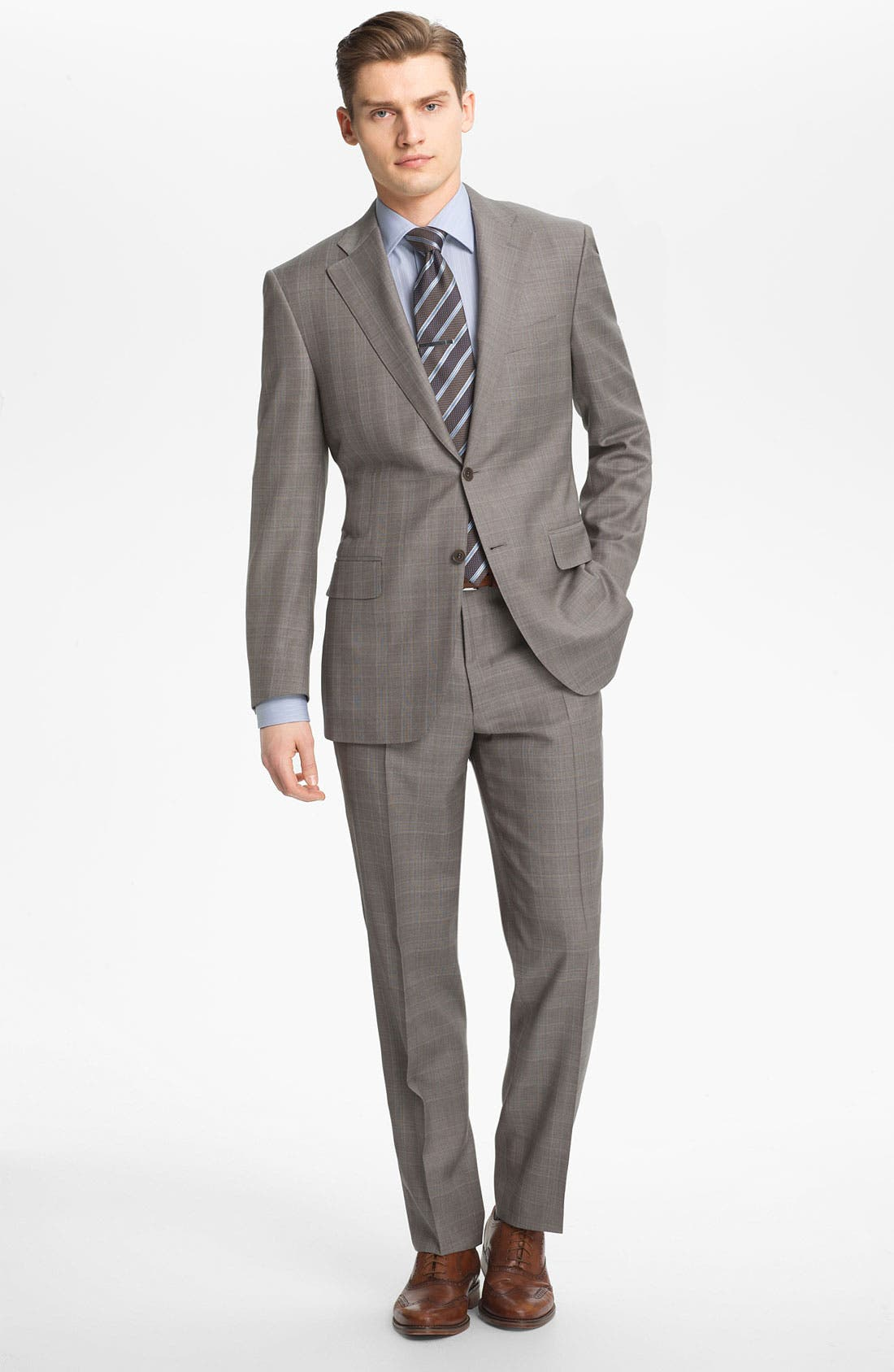 Alternate Image 1 Selected - Canali Plaid Wool Suit