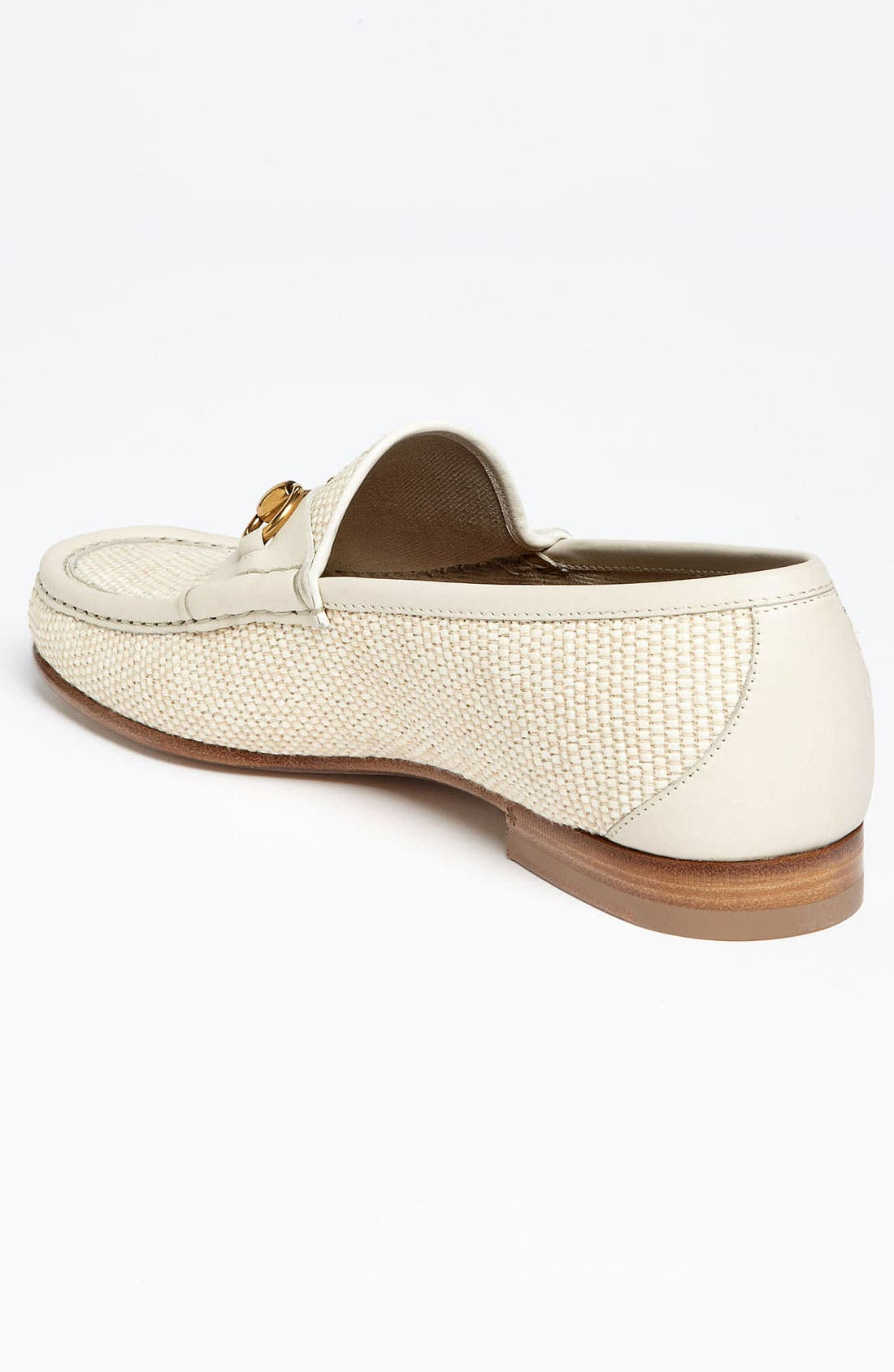 Alternate Image 2  - Gucci 'Roos' Straw Bit Loafer