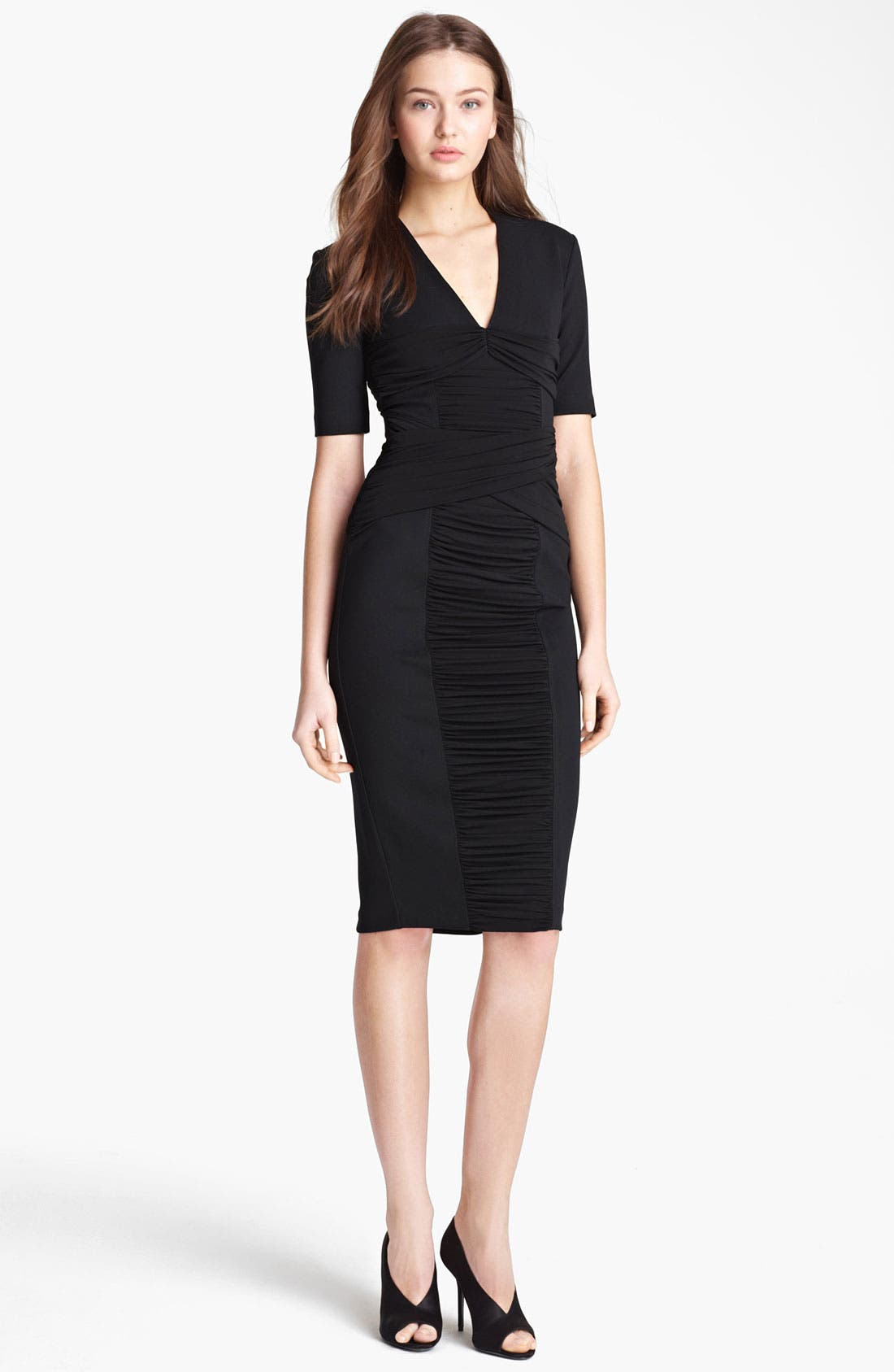 Alternate Image 1 Selected - Burberry London Twisted Jersey Dress