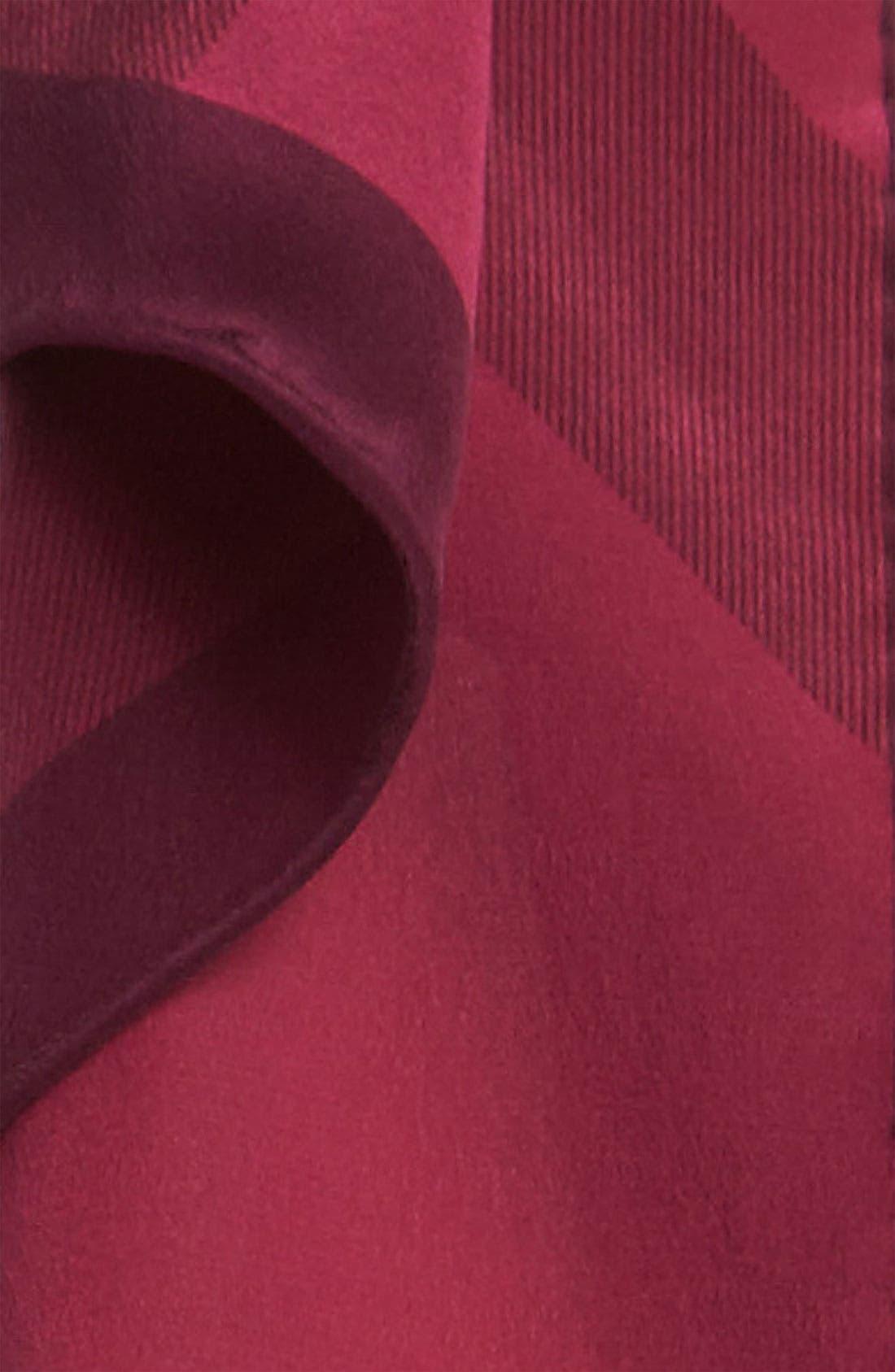 Alternate Image 2  - Burberry Giant Check Oblong Silk Scarf
