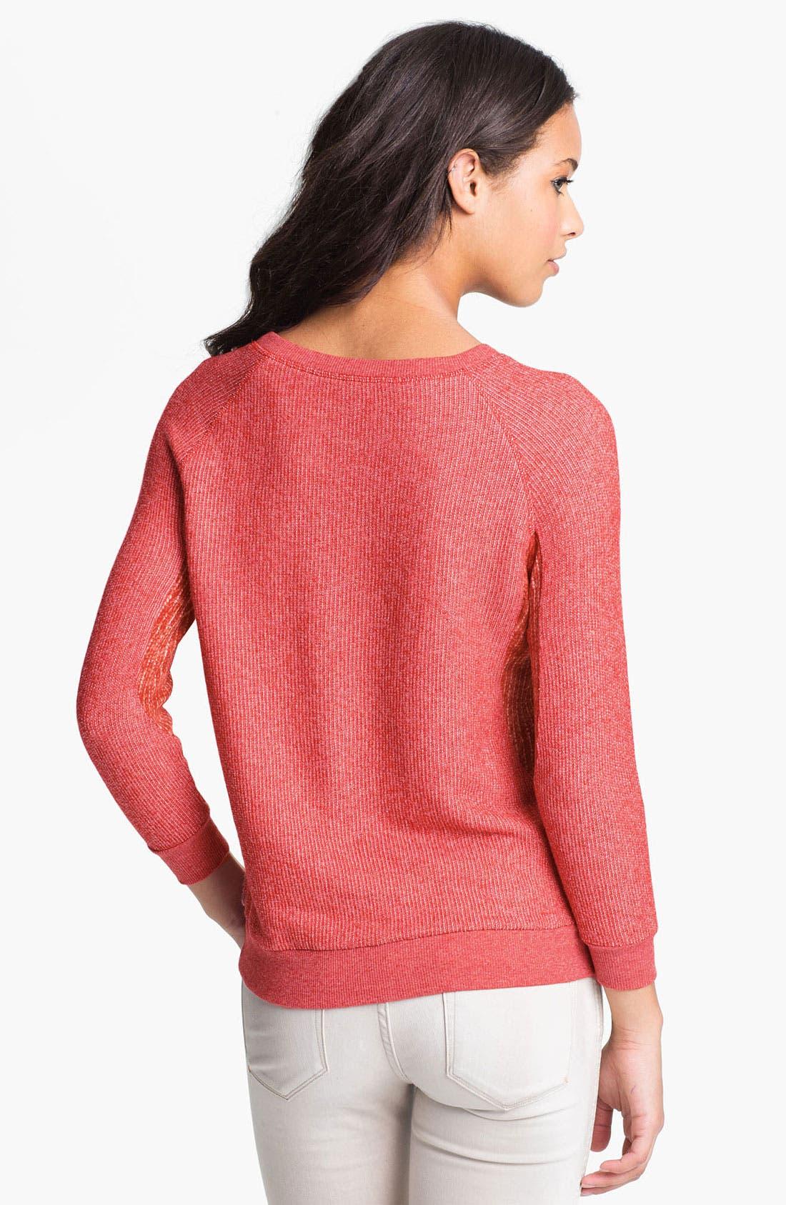 Alternate Image 2  - MARC BY MARC JACOBS 'Win' Mixed Media Sweatshirt