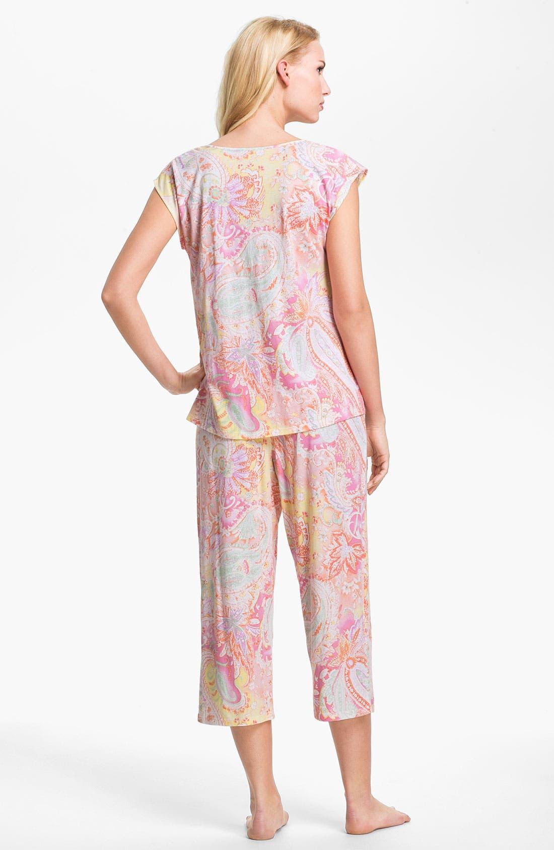 Alternate Image 2  - Lauren Ralph Lauren Paisley Pattern Pajamas