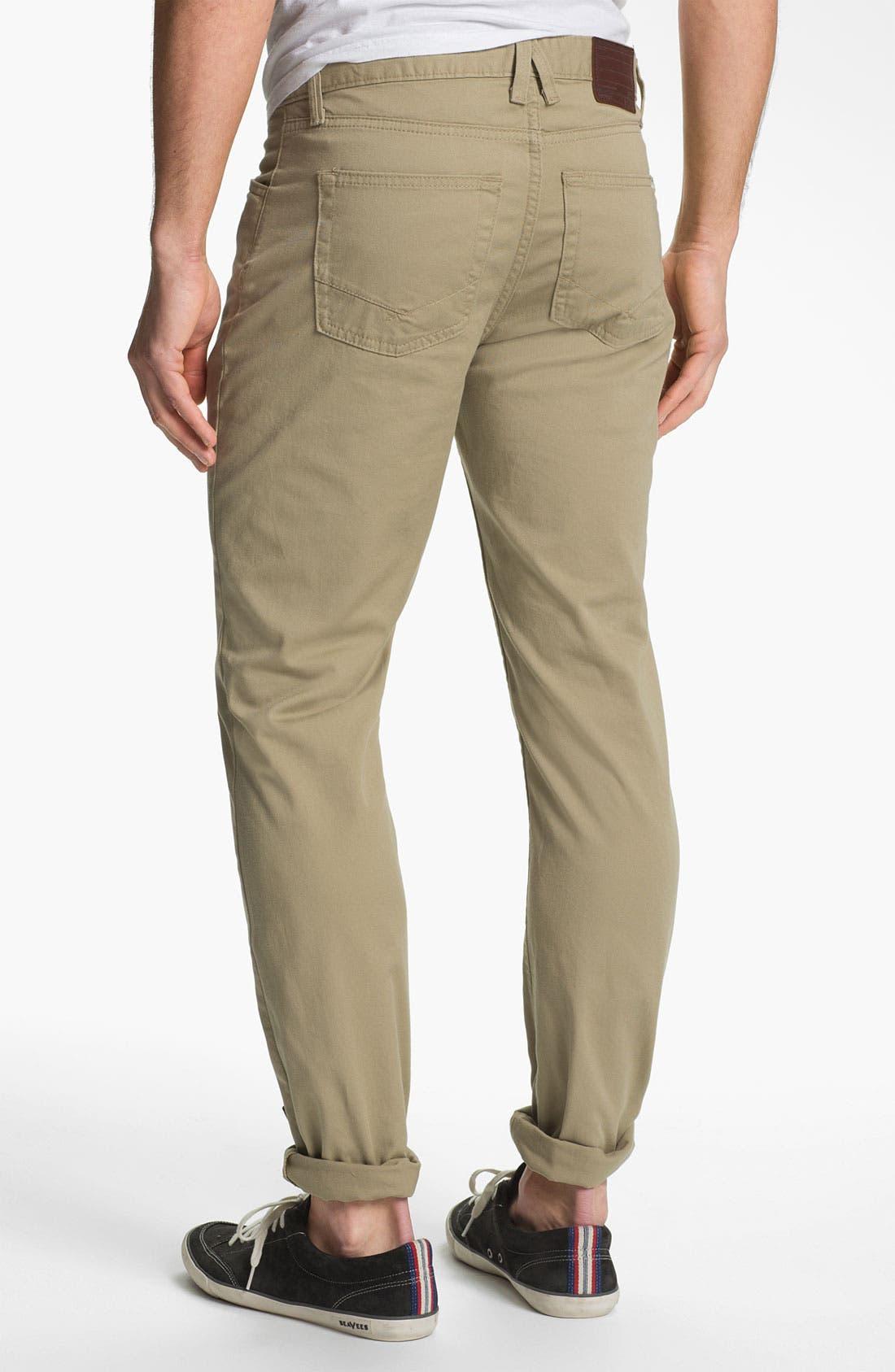 Alternate Image 1 Selected - Vans 'Covina' Slim Straight Leg Twill Pants